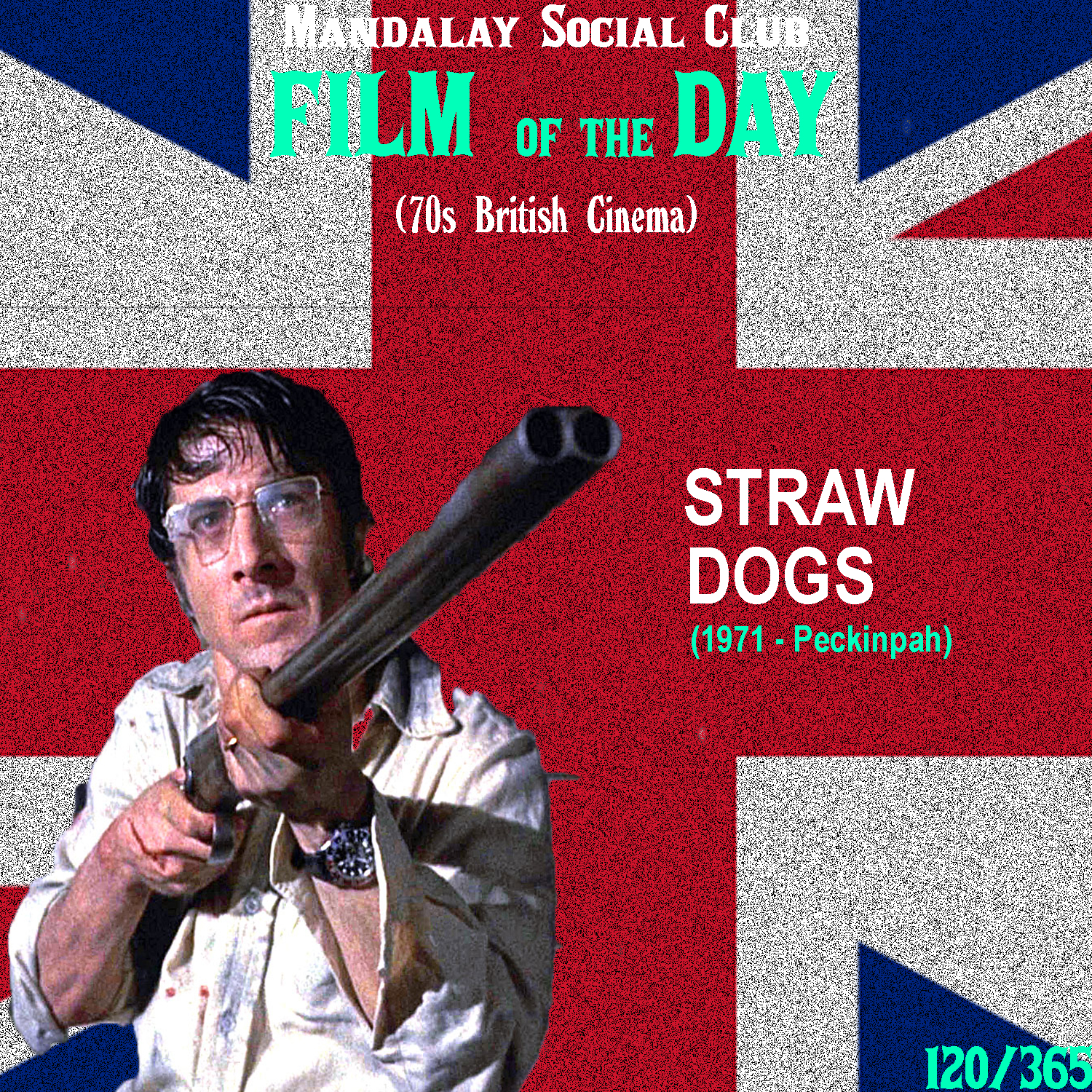 STRAW DOGS     (dir. Sam Peckinpah)   1971 proved to be a pretty memorable year for cinema across the globe. But just in the UK, 3 films released that year left audiences absolutely petrified. One of those was  Straw Dogs .  Technically a US/UK production,  Straw Dogs  is a terrifying look at the degradation of a man's morals when constantly pushed and harassed. Directed by renegade Hollywood filmmaker Sam Peckinpah,  Straw Dogs  stars Dustin Hoffman as David Sumner, a mild-mannered scientist from the states. He's received a grant to conduct research, so his wife and he decide to travel to the small English town she grew up in for some peace and quiet while David works. While in the desolate English town, the locals start to slowly toy with the Sumners as they constantly attempt to assert their dominance over this outsider and his local wife.  Sam Peckinpah has quite the taste for violence and  Straw Dogs  is no exception. Audiences were completely horrified as they were shown such graphic violence, including a pretty lengthy and explicit rape scene.  Straw Dogs , along with a few other British films from 1971, took full advantage of the lax rating system in the UK to create some of the most gritty films in cinema history.    5/5     WATCH: YouTube (FREE)