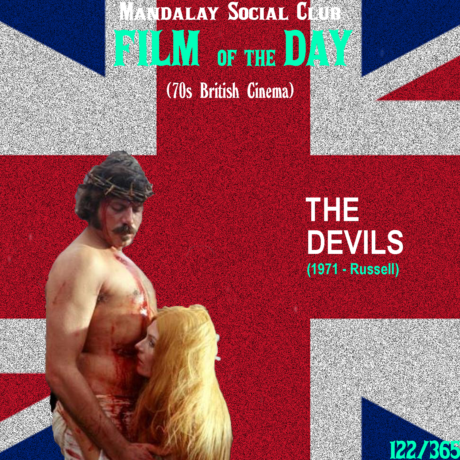 THE DEVILS     (dir. Ken Russell)   Easily one of the most controversial films of all time,  The Devils  is Ken Russell's nearly lost film, that to this day is pretty fuckin' difficult to find.   The Devils  is based on real life events that took place in 1600's France. It follows Urban Grandier, who was a Roman Catholic priest that had a fairly lax approach to sex as he took over the town of Loudon after the Governor died. The story shows how many of the sexually repressed nuns at the convent were in love with Grandier, and because of their inability to control themselves any further, were subject to ruthless exorcisms by the ignorant fathers of the Roman Catholic Church who have come to take back the town of Loudon.  The film has been dramatized for the sake of the screen, and in doing so Ken Russell has made what some people may argue is the most sacrilegious scene in cinema history. The scene, known as 'The Rape of Christ' has been cut out of most of the remaining editions of this film, but if you're 'lucky' enough to find an edition with it, you'll be presented with a wildly surreal look at a convent of nuns molesting a giant crucifix of Jesus. Needless to say, I don't think the Christian or Catholic community is very supportive of this film. Although, I think it's necessary for everyone who identifies wit ha religion to watch this film. The same way that we look back at ridiculous religious practices from the 1600's with shock, the future will look back at us today practicing religion with the same shock. It's an eye opening film that creates a lot of food for thought in how misunderstood religion is.    4/5     WATCH: Good Luck lol