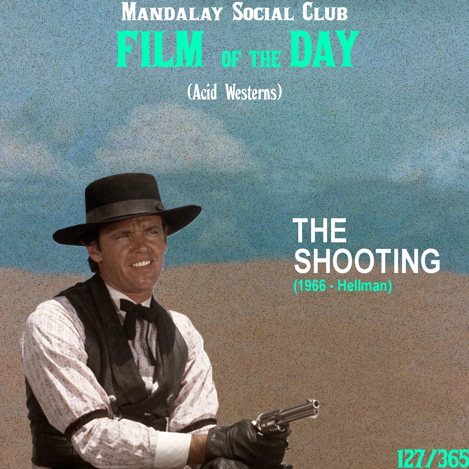 THE SHOOTING     (dir. Monte Hellman)   This film was a project directed by Monte Hellman that was unanimously produced by the great Roger Corman. Hellman and Corman worked on quite a few pictures together, but to me, none of them compare to his 1966 Acid Western  The Shooting .   The Shooting  stars Warren Oates as Willet Gashade, an ex-bounty hunter who, along with his dopey friend Coley, meet a mysterious woman (Millie Perkins) who enters into their camp without any warning. She needs their help crossing the desert and she pays them handsomely, however she refuses to tell them why she's going where she's going. Along the way, the group encounters Billy, played by a young Jack Nicholson, who's been tailing them the whole time. Turns out that he and the mysterious woman have something in cahoots, but Willet can't figure out for the life of him what it is.   The Shooting  is now looked back on as one of the first Acid Westerns of all time. As opposed to the traditional Western where the world was portrayed through the lens of the western frontier,  The Shooting  strips all the home-comfort of the Western genre and uses the barren atmosphere to create a haunting sense of existential anxiety and paranoia-induced dread. Death is always just over their shoulder and with the introduction of Nicholson's character, death is quite literally over their shoulder.    5/5     WATCH: The Criterion Channel