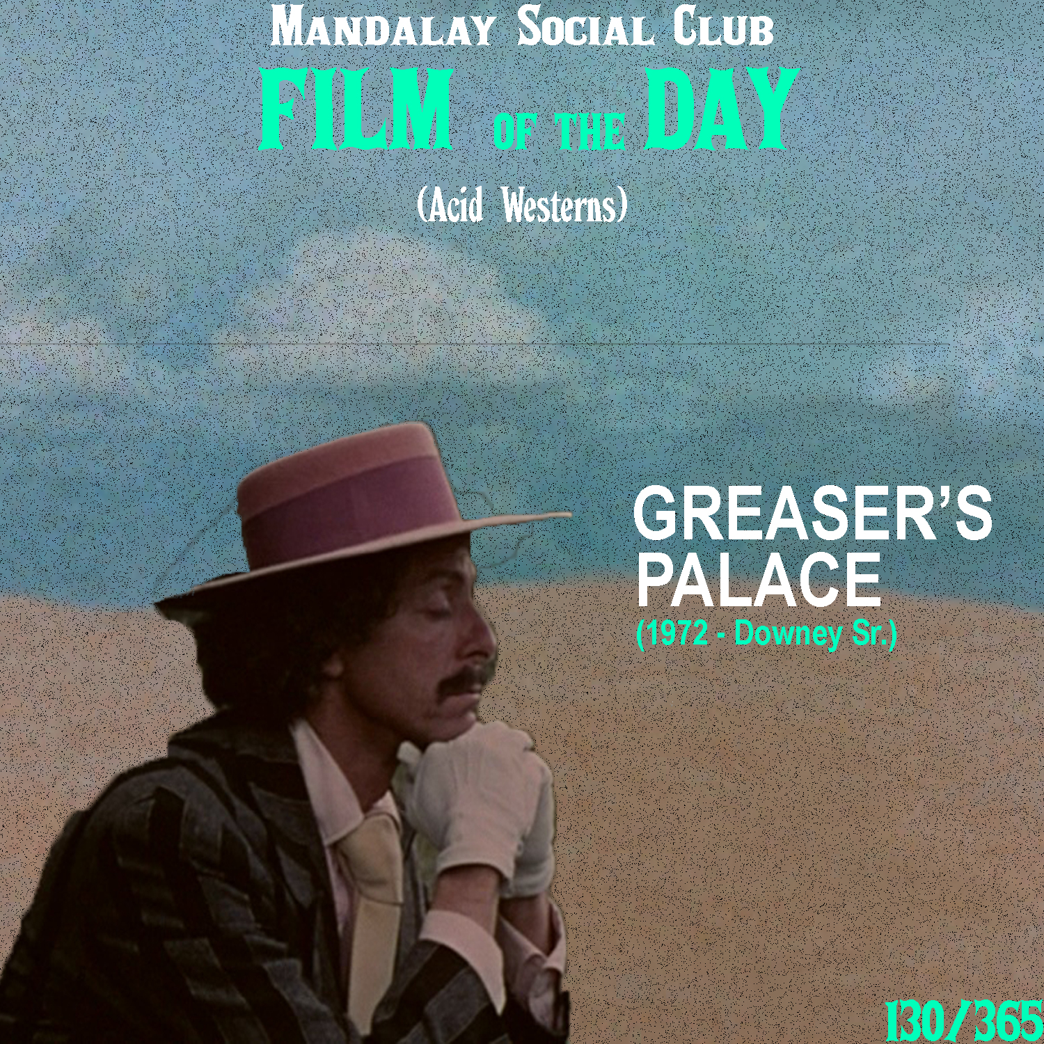GREASER'S PALACE     (dir. Robert Downey Sr.)   Written and Directed by Robert Downey Sr.,  Greaser's Palace  takes the groundwork laid in  El Topo  to create a uniquely original and hilarious take on the Western.   Greaser's Place  follows a man named Jesse who doubles as a more modern figure of Jesus Christ, only this one's roaming through the West. In fact, he tells everyone hemmers that he's on his way to Jerusalem to become an 'actor/singer.'  The film's structure is pretty loose and doesn't spend too much in the way of creating a solid narrative, but it succeeds effortlessly in satirizing the concept of organized religion and presenting it in such a creative manner. This film also has a cool little role courtesy of the director's not-yet famous son Robert Downey Jr!    3.5/5     WATCH: Putlocker (FREE)