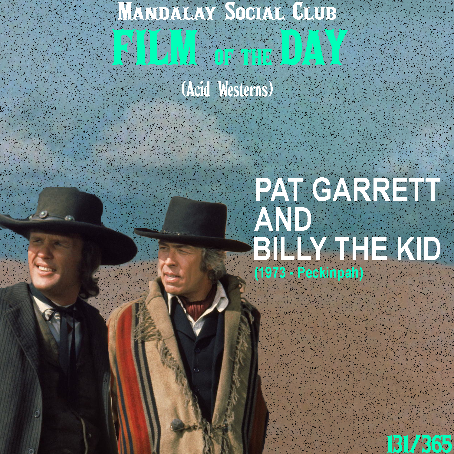 PAT GARRETT and BILLY THE KID     (dir. Sam Peckinpah)    Pat Garrett  isn't too much of an Acid Western per se, but it does have a lot of it's influence deep down in it's DNA. The film was written by one of the foremost writers of the subgenera, Rudolph Werlitzer and was intended to be directed by the creator of the Acid Western, Monte Hellman. Add the counter-culture icons in Kris Kristofferson and Bob Dylan to the cast and you got yourself the workings of a true Acid Western.  Directed by the violently legendary director Sam Peckinpah,  Pat Garrett and Billy the Kid  is a fictionalized take on Billy the Kid's last days. James Coburn stars as Pat Garrett, the newly appointed sheriff who's been assigned to take down his old friend Billy the Kid.  Peckinpah highlights the inner conflict Garrett feels as he's faced with the troubling dilemma of having to kill the young, free version of himself that he sees in Billy. The killing of Billy the Kid represents the ending of Garrett's drive for his youthful freedom.    5/5     WATCH: iTunes, Putlocker (FREE)