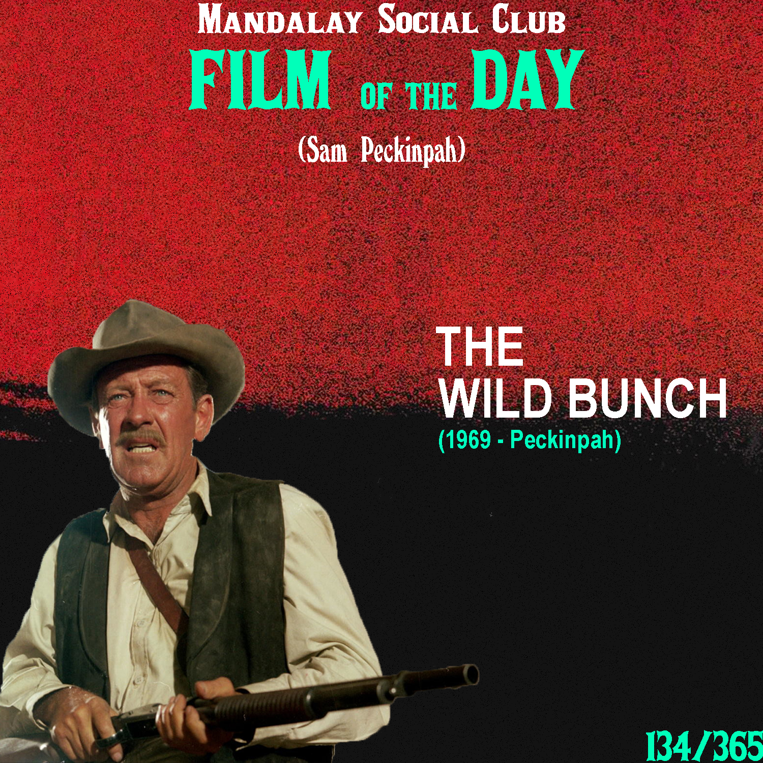THE WILD BUNCH     (dir. Sam Peckinpah)    The Wild Brunch  shocked audiences across the world and helped launch a promising young director into prominence.  Sam Peckinpah uses  The Wild Bunch  as a monstrous vehicle meant to bid farewell to the end of the traditional Western era. With a pretty big cast,  The Wild Bunch  follows a group of bandits as they attempt to make one final heist. After finding out that the heist was a set-up put together by an old partner, the wild bunch now head down to Mexico as they seek refuge from the strong arm of the law.  Peckinpah highlighted this film with his excessive use of violence and gore to really demonstrate the changing tides the world of cinema was facing. The Western, specifically, was undergoing quite a bit of change as the New Hollywood movement was catching its first strides in the mid to late 60s. Peckinpah responded by symbolically killing off the traditional Western genre, with absolutely no mercy, with his primitive approach to violence in his characters.  As an ode to what once was, Peckinpah set a standard with  The Wild Bunch  that not only garnered him the nickname 'Bloody Sam', but also helped shape the revisionist approach to genre from there on out.    5/5     WATCH: Netflix
