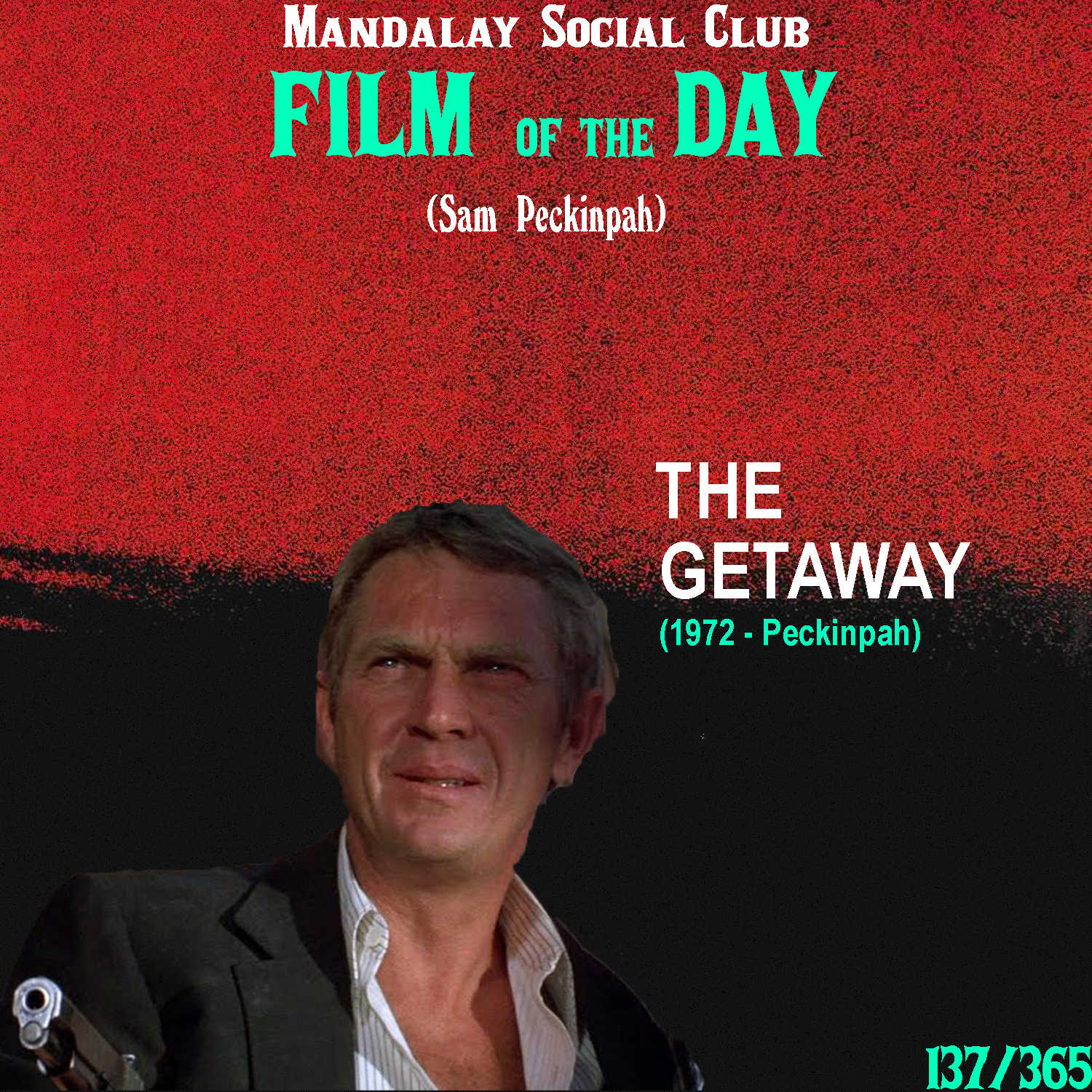 THE GETAWAY     (dir. Sam Peckinpah)   After working w/ Peckinpah on  Junior Bonner , McQueen was eager to work with Peckinpah again. Their next venture together,  The Getaway , went on to completely overshadow the previous collaboration between the two.   The Getaway  shows Peckinpah venturing into Neo-Noir territory for the first time in his career. The film stars Steve McQueen as Doc McCoy, an inmate who gets released from prison thanks to a sexual favor made by his girlfriend to a very powerful oil magnate named Jack Beynon. When out of prison, McCoy must further return the favor to Beynon by carrying out a bank heist for him. However, in keeping with classic noir standards, a series of double crosses leave McCoy and his girlfriend alone in an untrusting world.  Peckinpah was known for his Westerns throughout his career, but he got a chance to stretch out of that territory, while still placing this Neo-Noir in typical Western locations (including Mexico) that Peckinpah fetishized over. Compared to  Junior Bonner , Peckinpah went back to his roots for a more explicitly violent film that holds up in the ranks much closer to  The Wild Bunch ,  Straw Dogs , and  Bring Me the Head of Alfredo Garcia .    4/5     WATCH: iTunes, Putlocker (FREE)