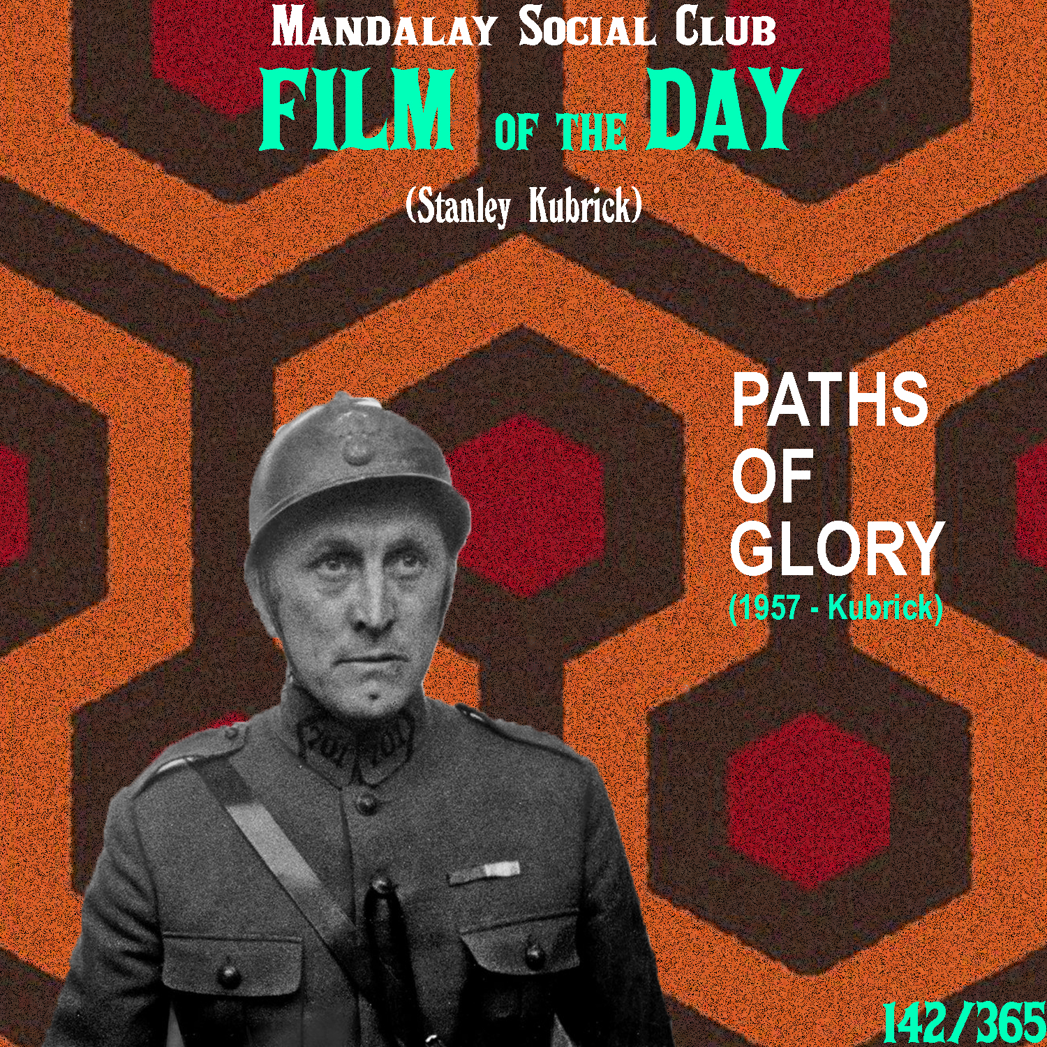 PATHS OF GLORY  (dir. Stanley Kubrick)  After The Killing, Stanley immediately followed up with his first real anti-war film, Paths of Glory, a genre Kubrick would toy with for the rest of his career.  Paths of Glory follows members of the French Army during WWI. Kirk Douglas stars as Colonel Dax, a well-respected colonel in the army. In order to gain a prominent promotion, the shady General Mireau orders an attack on a German trench that's pretty much a guaranteed death wish. When Douglas refuses and most of his men stay in the trench, the generals pick three random men for execution in order to retain and flex their power over the troops.  While The Killing and even Killer's Kiss were great films, Paths of Glory is the first one that really starts showcasing some of the auteurist qualities that would define Kubrick's work. For instance, the tracking shots of Kirk Douglas in the trenches paved the way for all the many orderly tracking shots Kubrick would go on to use over the next 40 years.  Paths of Glory also has great support with roles from Ralph Meeker (Kiss Me Deadly) and Timothy Carey (The Killing) as two of the innocent men who were picked at 'random' for execution. Each of them give career defining performances, regardless of how small the roles may have been.  5/5  WATCH: Criterion Channel, Putlocker (FREE)