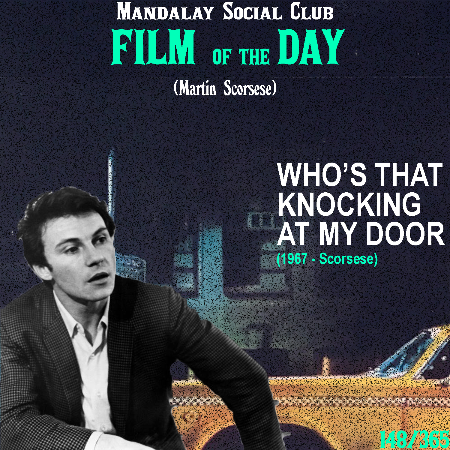 WHO'S THAT KNOCKING AT MY DOOR?     (dir. Martin Scorsese)   Marty Scorsese's debut came at a time when cinema was changing and it brought some attention to this promising young director who would later go on to have one of the most exciting and prolific careers in filmmaking.  Harvey Keitel stars as JR, a young New York kid who spends his days mainly getting drunk with his friends, however we see that most of the time, his days are consumed with thoughts about an intriguing young girl he began seeing. What the film lacks in plot, it makes up for in style. Who's That Knocking is easily one of the most stylistic films in Scorsese's filmography and he approached it a lot like Arthur Penn approached his debut, Mickey One, where they indulged themselves in the cinematic possibilities introduced to them via the French New Wave.  This film is among the more underrated films in Scorsese's career and it's understandable to a degree why that is. For one, this film isn't particularly accessible and it's lack of a sturdy plot gives way for a lot of boredom if you're not a cinephile, intrigued by the literacy and technicalities of filmmaking. Scorsese's debut made it very well known that Scorsese is a movie brat and this quality is what I believe has kept him so relevant for so long. It's also why Tarantino is so unbelievably popular. There's a love, admiration, and respect for the cinematic art form that translates to the screen and gives viewers the feeling that thes was made by someone who truly cares.  4.5/5  WATCH: Putlocker (FREE), YouTube (RENT)