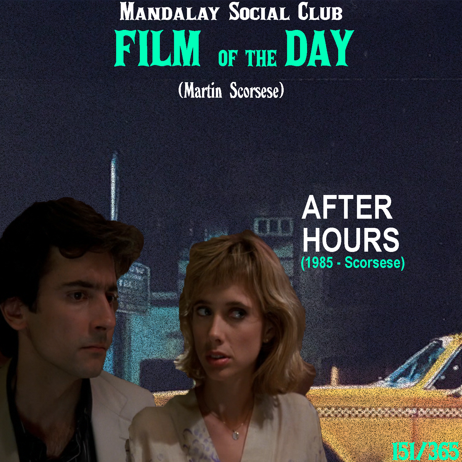 AFTER HOURS     (dir. Martin Scorsese)   Alright, I know I said  The King of Comedy  was overlooked, but  After Hours  might have it beat.  After Hours  isn't a film that gets looked at like  Taxi Driver, Raging Bull,  or  Goodfellas , but it has always been my personal favorite film of Scorsese's.  Griffin Dunne stars as Paul Hackett, an everyday guy who meets Marcy, an eccentric attractive young woman at a diner one night. After meeting Marcy, his entire evening takes on a surreal and consequential turn as Paul keeps finding himself getting in more and more trouble, the longer the night goes on.  Scorsese made  After Hours  in an effort to return to his roots when he wasn't able to get his passion project,  the Last Temptation of Christ , made.  After Hours  is fairly plotless and I've always compared it's structure to that of  Easy Rider . There is no real over-arcing premises, it's just one decision followed by another that dictates the next. Just like life.    5/5     WATCH: iTunes (RENT), Putlocker (FREE)