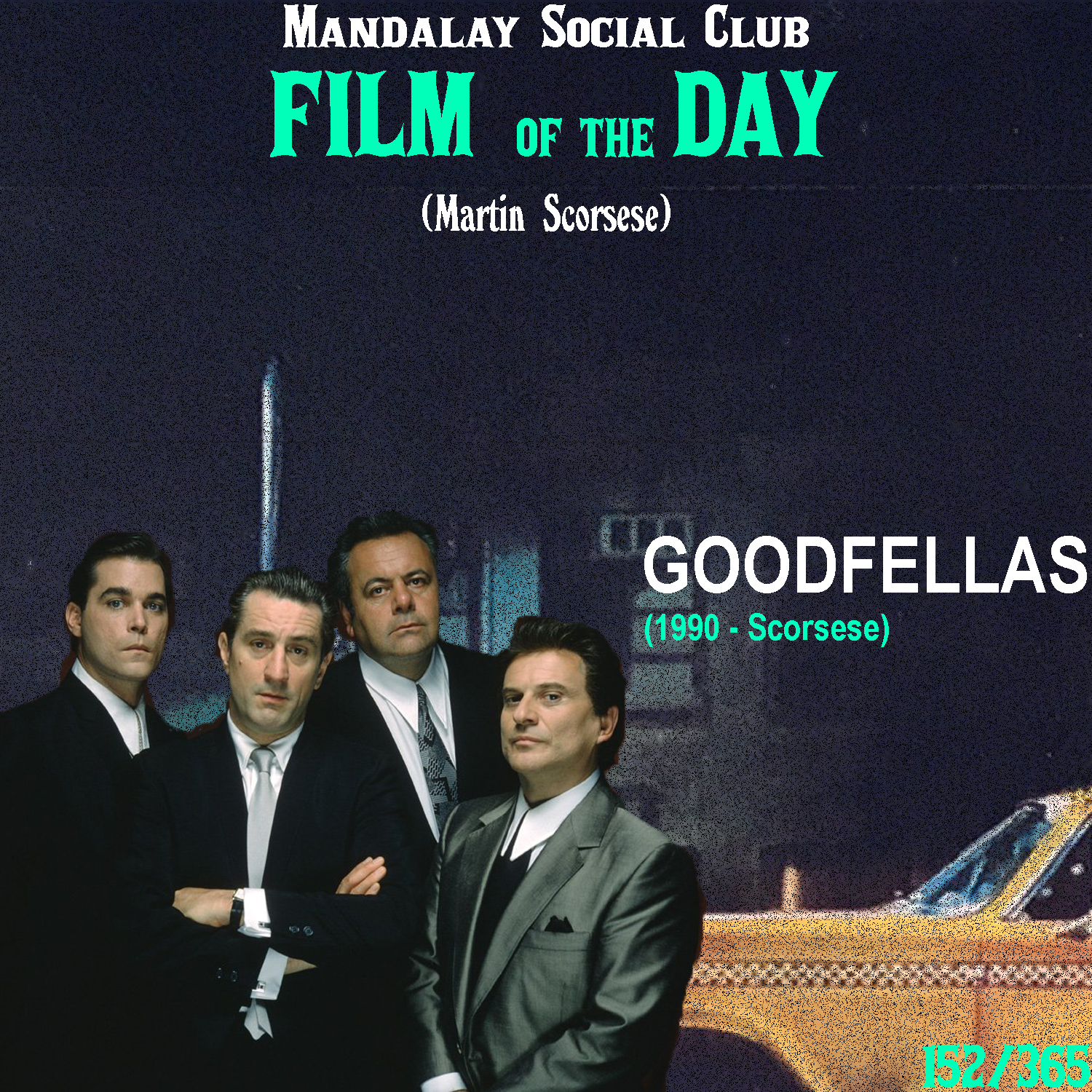 GOODFELLAS     (dir. Martin Scorsese)   Not only did Scorsese have one of the biggest films in the 70's and 80's with  Taxi Driver  and  Raging Bull  respectively, but he also kicked off the 90s with one of the most iconic and beloved films in his filmography.   Goodfellas  hosts an all-star cast of Scorsese favorites with Robert DeNiro and Joe Pesci while also introducing Ray Liotta as the lead character. Liotta stars as Henry Hill, a gangster who starts finding himself in more and more trouble, the longer he stays involved in the mob. On top of that, he begins to pick up a nasty coke addiction, which results in the final nail in the coffin for Henry.  Unlike many other gangster films,  Goodfellas  perhaps does the best job of showing the actual inner workings of the mob. With classic Scorsese style, Marty is able to depict t the actual hard-working ethic of these mobsters in a way that doesn't slowly glamorize the riches like some of his counterparts.  Goodfellas  not only paints the picture that gangsters at the end of the day are CRIMINALS, but also shows just how important it is to make good decisions in life.    5/5     WATCH: iTunes (RENT), Putlocker (FREE)