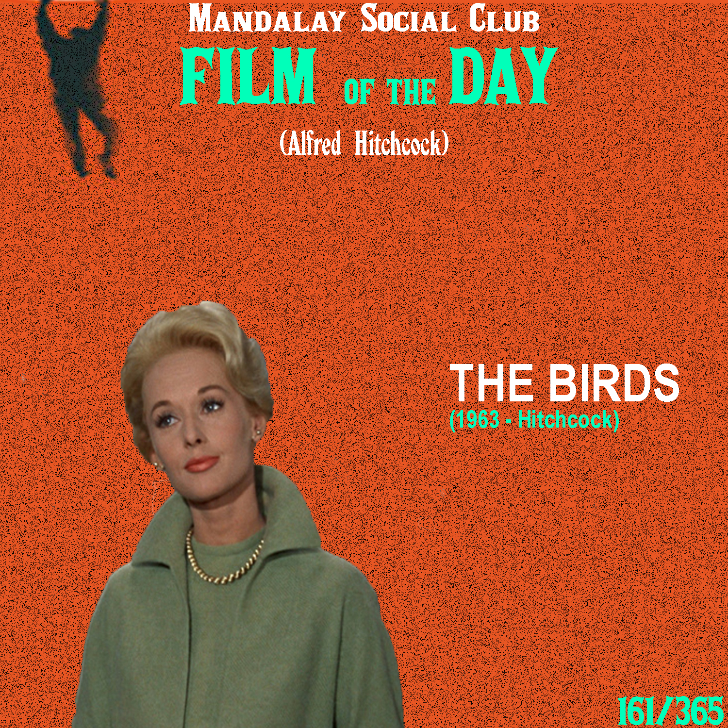 THE BIRDS     (dir. Alfred Hitchcock)    The Birds  was Hitchcock's follow up to  Psycho , and coincidentally is also one of the last great films of his career.  Tippi Hedren stars as Madeline Daniels, a young socialite from San Francisco who becomes interested in criminal defense attorney Mitch Brenner, played by Rod Taylor. When she attempts to further her connection with Mitch by bringing him a couple of lovebirds he was looking to buy, she's led to Bodega Bay; the costal town where Mitch stays with his sister and mother on the weekends. It's there in Bodega Bay that swarms of seagulls, crows, and sparrows begin attacking the unsuspecting citizens with no apparent motive.  Hitchcock loved the theme of 'birds' and it was actual an incredibly present motif in his previous film  Psycho . It's no wonder he wanted to dive into this theme fully with  The Birds . While the resulting film isn't quite as frightening or exciting as the previous, it does still offer up countless lessons in building suspense. In particular, the scene where the unsuspecting Madeline sits in front of a gaggle of birds perched on a jungle gym is one of the finest examples on how to build suspense using the cinematic form.    3.5/5     WATCH: Ok.ru (FREE), iTunes (RENT)