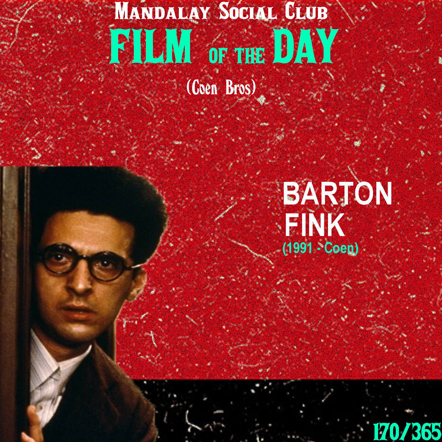 BARTON FINK     (dir. Coen Bros)   The Coen's followed  Raising Arizona  with a dense mystery noir,  Miller's Crossing . However, during the creation of that film, the brothers had quite the battle with writer's block and in the mean time banged out the script for Barton Fink in only a couple of weeks!  Barton Fink stars John Turturro as the titular character. He's a well-respected theater director from New York who agrees to go out to Hollywood to work in the pictures. Once he gets to Hollywood and checks into the barely standing Hotel Earle, he begins to draw writer's block as he attempts to write a wrestling script for a B-Movie. He takes his job as a writer seriously, while the executives at Columbia simply want him to write without any regard for his artistic integrity. While struggling with the intensity of being a writer, Barton begins experiencing strange events in the Hotel Earle before he finally finishes the script.  The Coen's topped the wackiness of  Raising Arizona  with  Barton Fink  as they pull clear influences from directors like David Lynch and Roman Polanski while still melding their now identifiable sense of humor throughout the movie. The Coen's, beautifully depict the stressed and otherworldly mindset of a writer and Charlie Kaufman even stated that this is the greatest film about writers ever made, which I'd agree with until Kaufman himself made  Adaptation  in 2002.    5/5     WATCH: Hulu