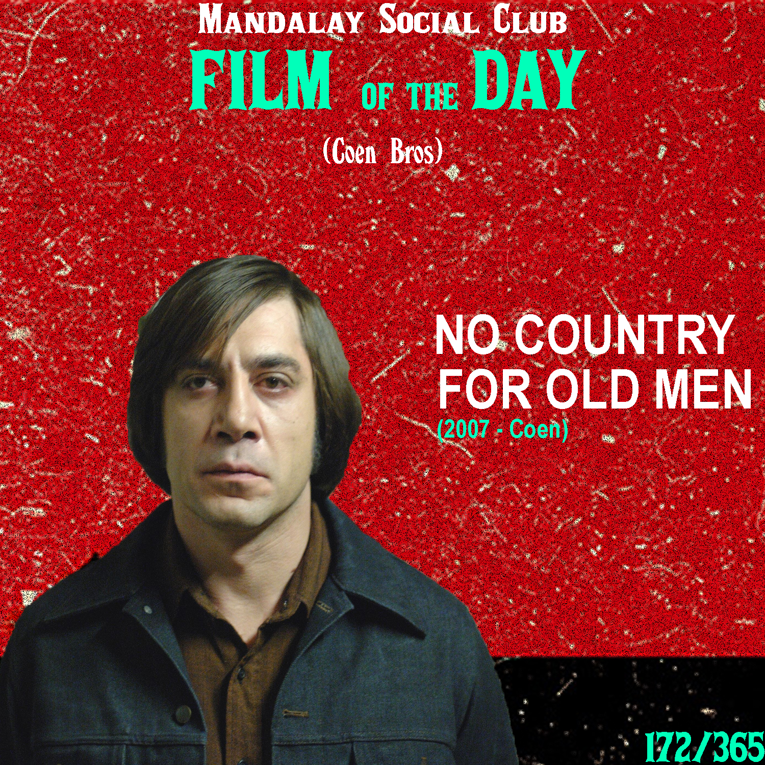 NO COUNTRY FOR OLD MEN     (dir. Coen Brothers)   After a pretty stale decade after  The Big Lebowski , the Coen Brother's reintroduced themselves to the world of cinema with  No Country for Old Men , a Neo-western that essentially redefined the genre forever.  Josh Brolin stars as Llewelyn Moss, a Texan welder who stumbles upon the remains fo a drug deal turned sour. In a deserted truck he sees piles of cash that he decides to take with him. However, hot on his trail is the demonically intimidating Javier Bardem as Chigurh, a killer sent out to recover and punish Moss for taking what isn't his.  The Coen's created this film in the vein of one of our favorite directors here, Sam Peckinpah, and through it re-created the Western genre altogether. Javier Bardem gives the performance of a lifetime as Chigurh and helped bring to life one of the most manically intense villains to ever grace the silver screen. As I said above, this film re-introduced the Coen's to the limelight and in turn gave the Coen's a revitalized and energizing feeling that's stuck with them from this point onwards in their journey as filmmakers.    5/5     WATCH: Netflix