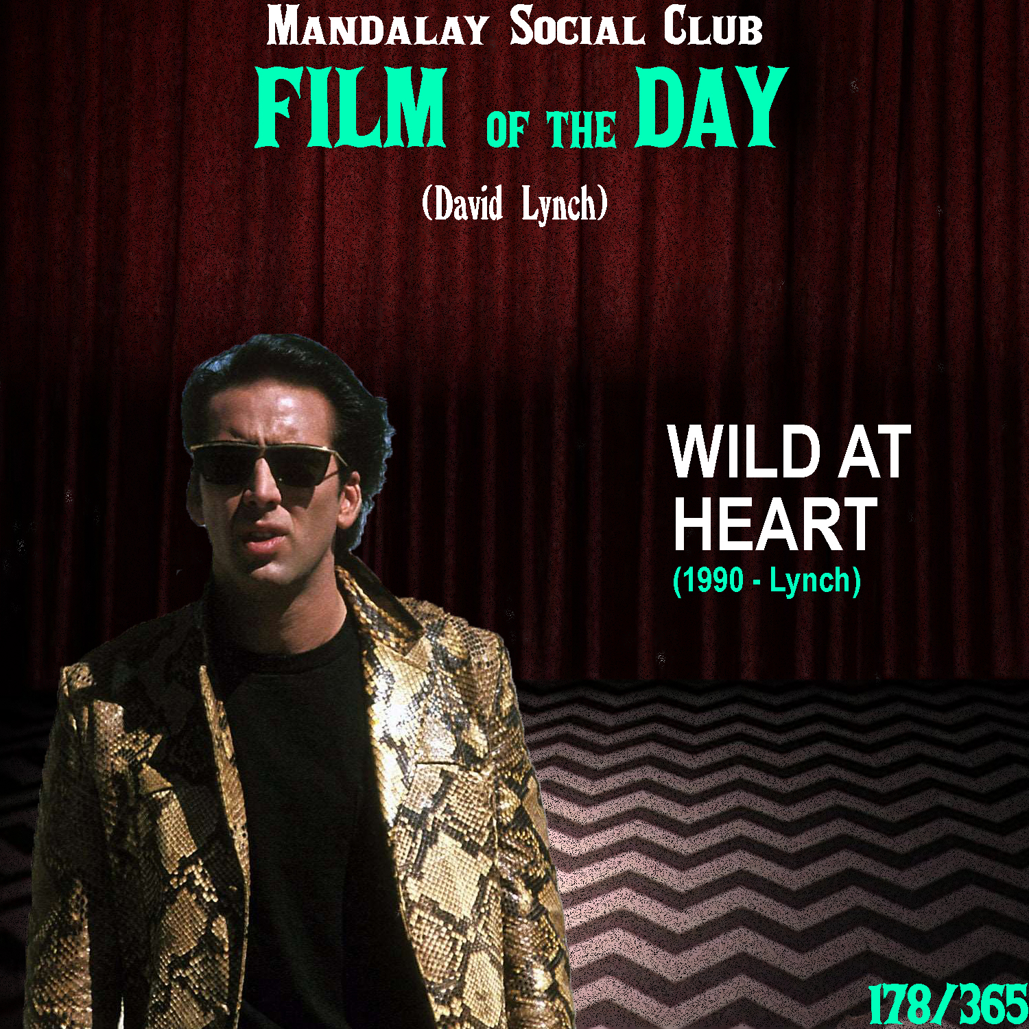 WILD AT HEART     (dir. David Lynch)   After kicking off the 80s with two 'for-hire' films w/ the critically acclaimed  Elephant Man  and not so acclaimed  Dune , David came into his own as a filmmaker with his 1986 cult classic  Blue Velvet . His follow-up,  Wild at Heart , is arguably even more zany and further staples David's presence as the new king of American Surrealism.   Wild at Heart  is an adaptation of the novel by the same name by Barry Gifford. It follows a young, sexually charged couple named Sailor and Lula, played by Nic Cage and Laura Dern. Lula's mom doesn't like Sailor and does everything gin her power to keep her daughter from seeing Sailor, including homicidal attempts upon the young man's life. Once he gets out of prison, him and Lula skip town and head towards Texas. Unbeknownst to them however is a hitman out to track down the couple and kill Sailor. The two find refuge in the strange town of Big Tuna, Texas where Sailor gets in more trouble when he meets the bizarre criminal Bobby Peru.  Thanks to Blue Velvet, David had cemented his own personal style and he was able to include that style in this adaptation of  Wild at Heart .  Wild at Heart  is a non-stop thrill ride that indulges in pure surreal expressionism, with countless allusions to  The Wizard of Oz . The characters of the film, which includes a ton of cast members from  Twin Peaks , are among David's most idiosyncratic with every single last character in the film having enough substance within them that they could each easily be the star of their own individual picture. While the film is somewhat forgotten and pretty difficult to find, it's one of the most memorable in Lynch's cannon thanks to the eccentricity of his characters!    4/5     WATCH: Ok.ru (FREE)