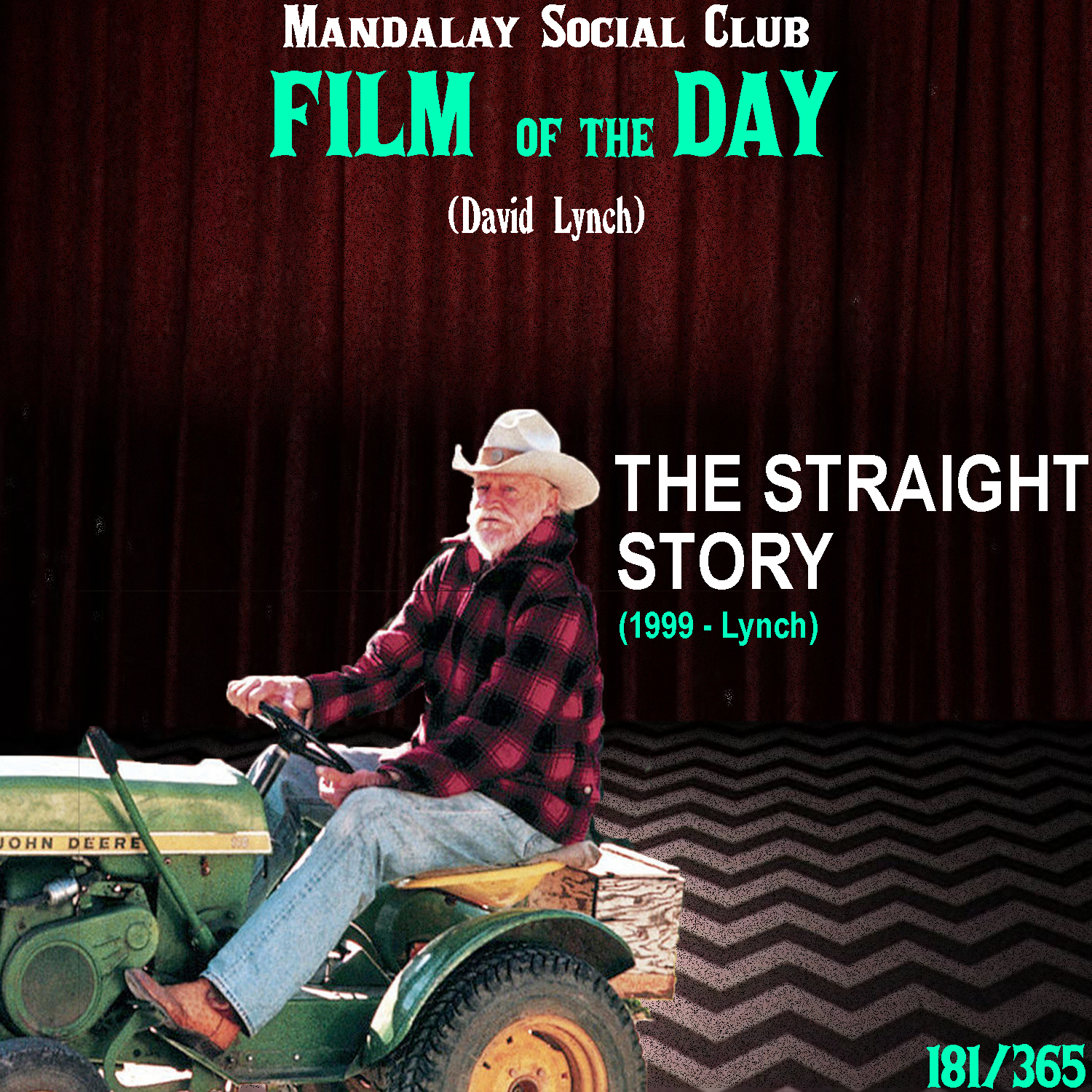 THE STRAIGHT STORY     (dir. David Lynch)   David Lynch's single most sympathetic film,  The Straight Story  comes completely out of left field when analyzing all the works from the great Americana Surrealist.   The Straight Story  recounts the true story of Alvin Straight, a 73 year old man from Iowa, whose brother fell victim to a stroke in Wisconsin. Alvin, played by Richard Farnsworth, and his brother Lyle (Harry Dean Stanton) haven't spoken in 10 years, but Alvin's determined to make amends with him before it becomes too late. However, Alvin doesn't have a license due to his poor eye sight and he doesn't trust a bus driver to get him there. So, Alvin has no other choice but to take a tractor 370 miles to visit his brother. Along thaws, Alvin's touching soul enlightens all those whose path he crosses, from a young pregnant teenager, to a John Deere dealer, to a fellow WWII veteran.  This is by far the most different film in Lynch's filmography, but it's still just as beautiful as any of his others, only in a different way. Where most of his films take form in the surreal,  The Straight Story  is pure realism that pulls on the heartstrings through the impeccable character performances of every single last actor in this film. Truly, there is not a single performance that falls flat and Richard Farnsworth leads the film in a way that most actors can only dream of. His authenticity in approaching the role of Alvin Straight is so present that it feels almost like a documentary that's accompanied by jaw dropping visuals of Midwest America!    5/5     WATCH: Putlocker (FREE), iTunes (RENT)