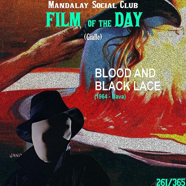 Day 261/365: Blood and Black Lace (Dir. Mario Bava) - 1964 🇮🇹 —- Mario Bava had successfully introduced the Giallo genre with The Girl Who Knew Too Much, but Blood and Black Lace served as a stylistic reference point for the genre that went on influence a multitude of filmmakers like De Palma, Scorsese, Tarantino, and Argento! —- SWIPE ➡️ to see our favorite scene from Blood and Black Lace! —- Blood and Black Lace centers on a group of models in Rome staying at a couple's fashion salon. While in this mansion, a masked killer begins to terrorize the models as he slowly begins to kill each one, one by one!