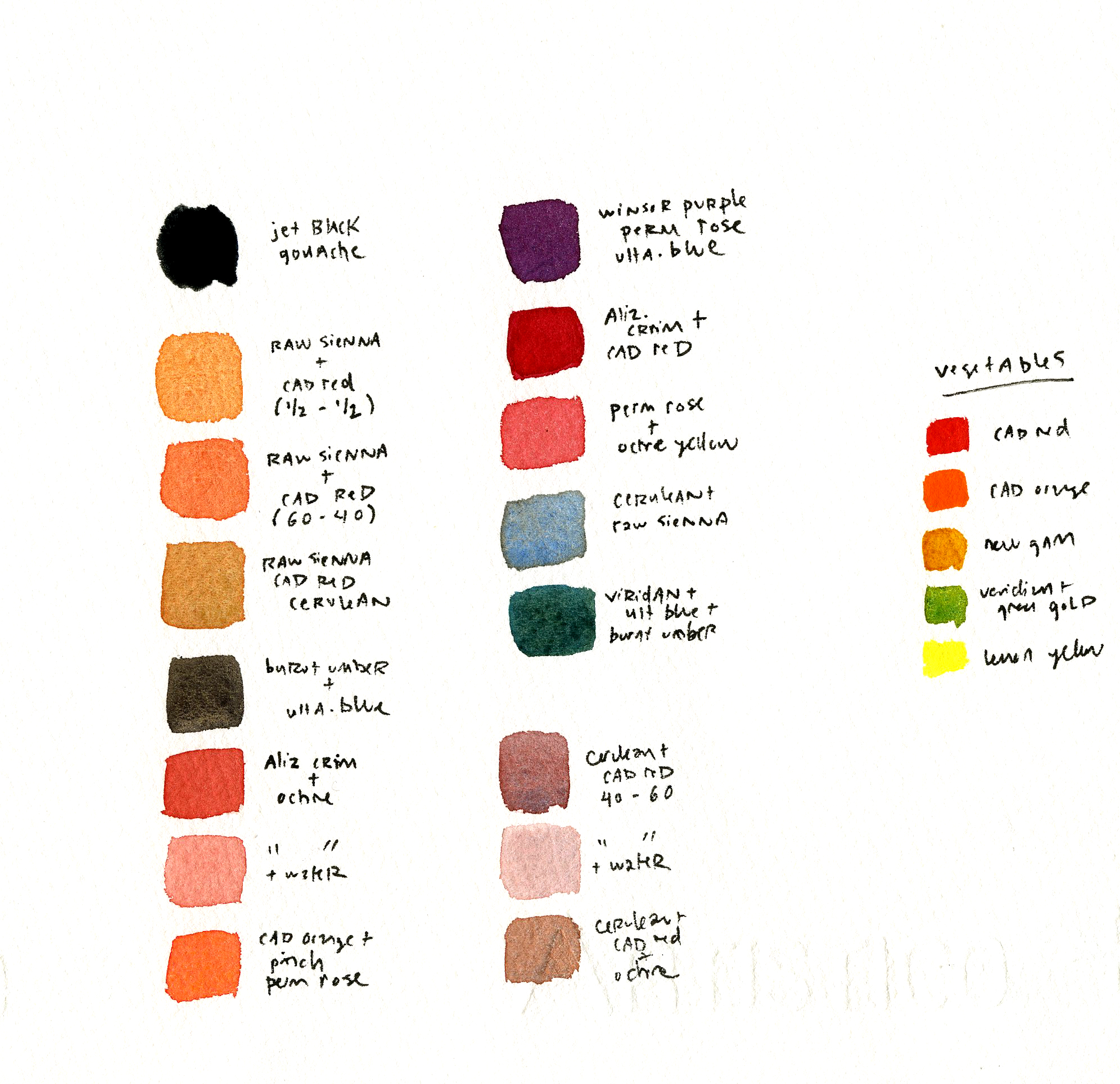 color palette for illustration