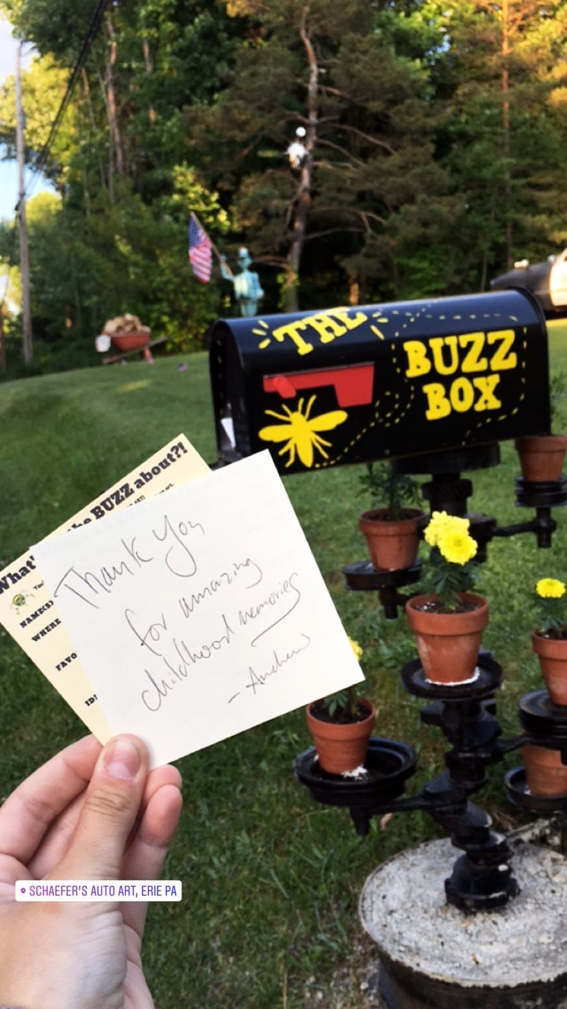 Buzz Card The Buzz Box at Schaefer's Auto Art.JPG