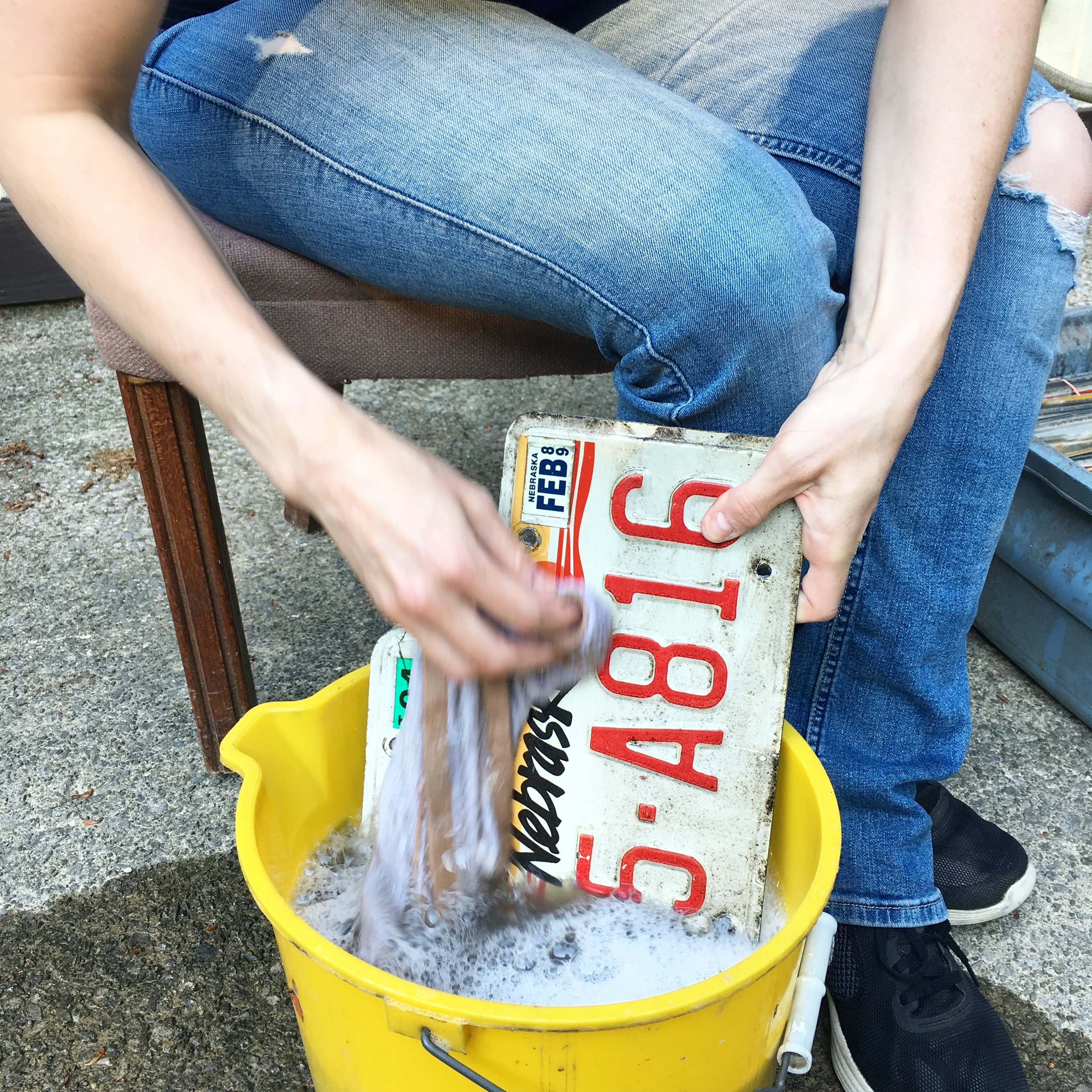 Washing Places- Schaefer's Auto Art Flag BTS.JPG