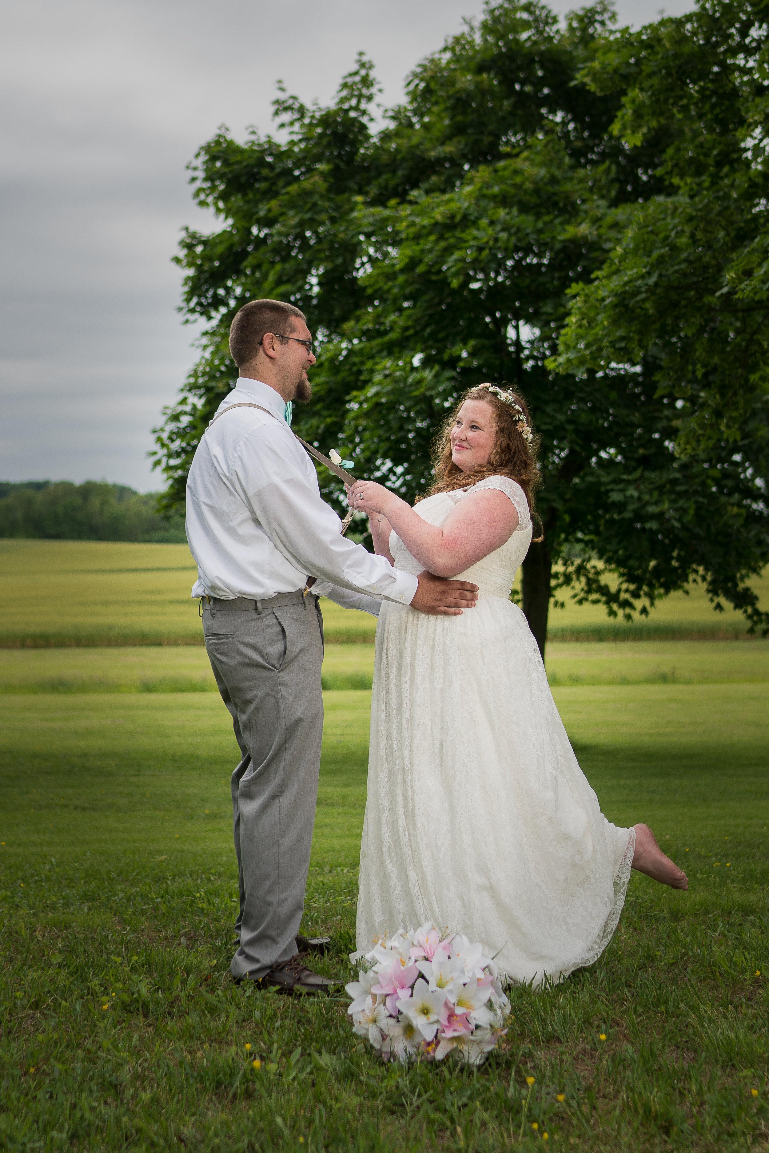 wedding bride & groom portrait