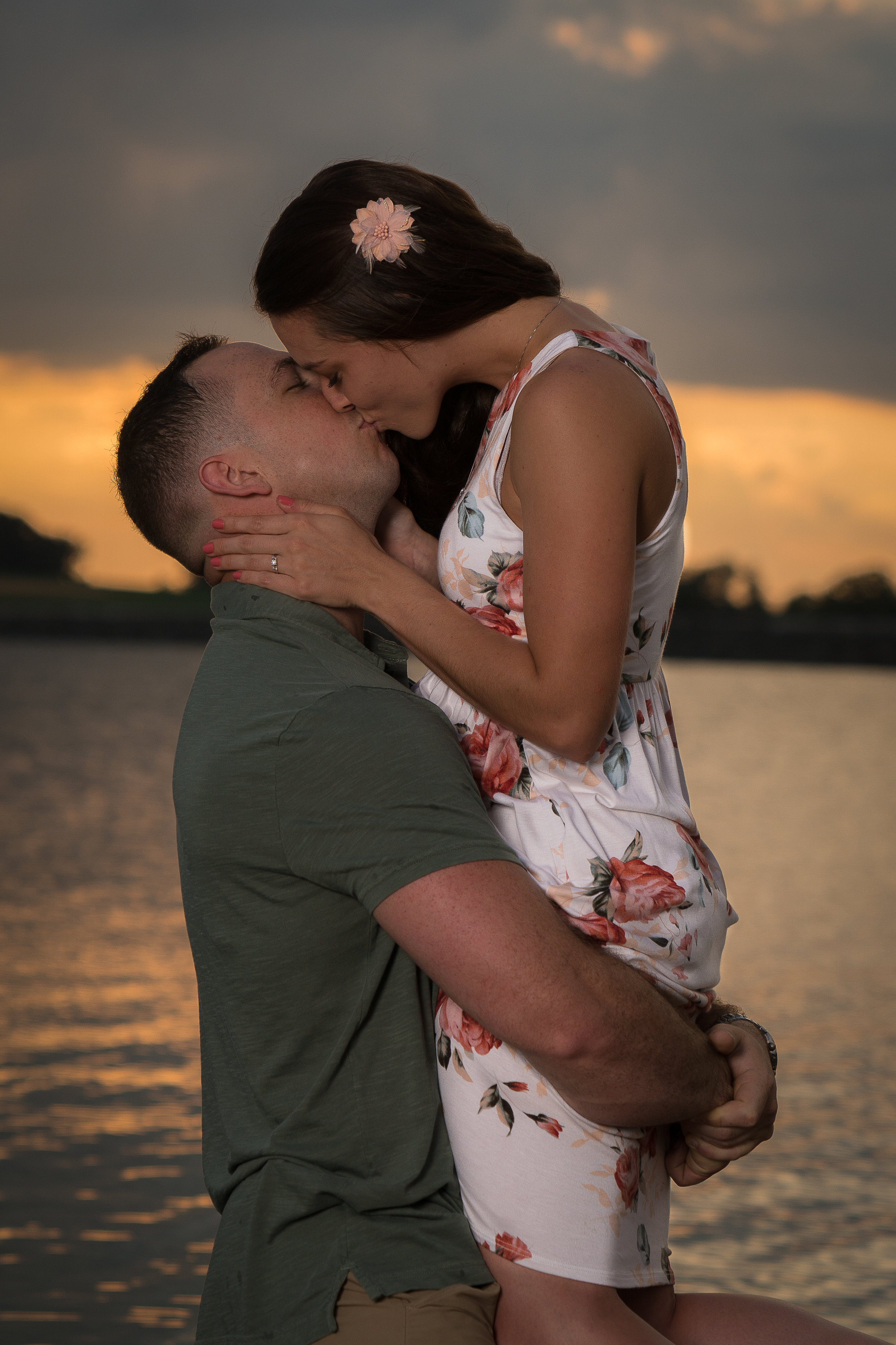 lake engagement session hanover pa