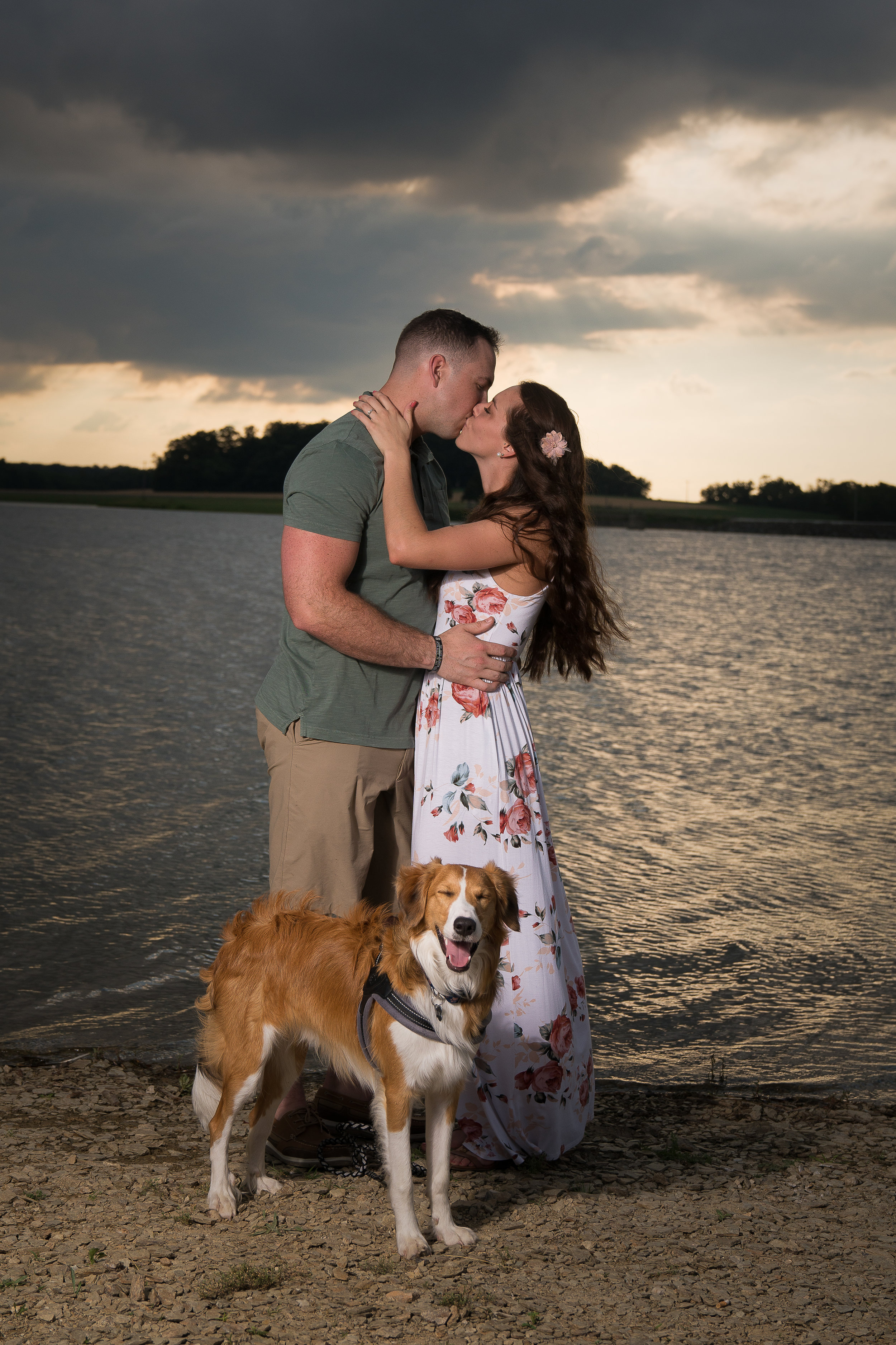 engagement session with dog hanover pa