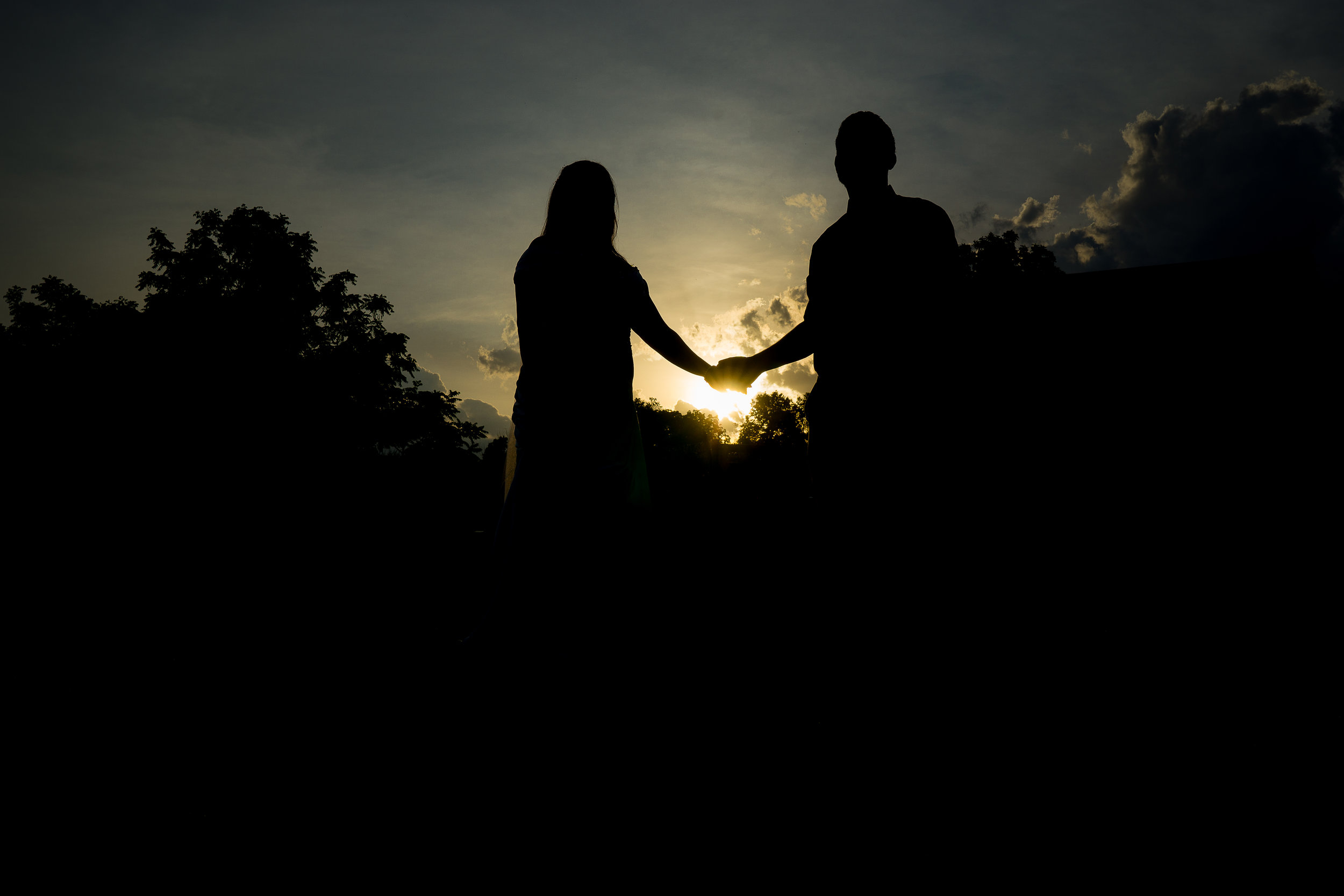 silhouette wedding photo gettysburg pa