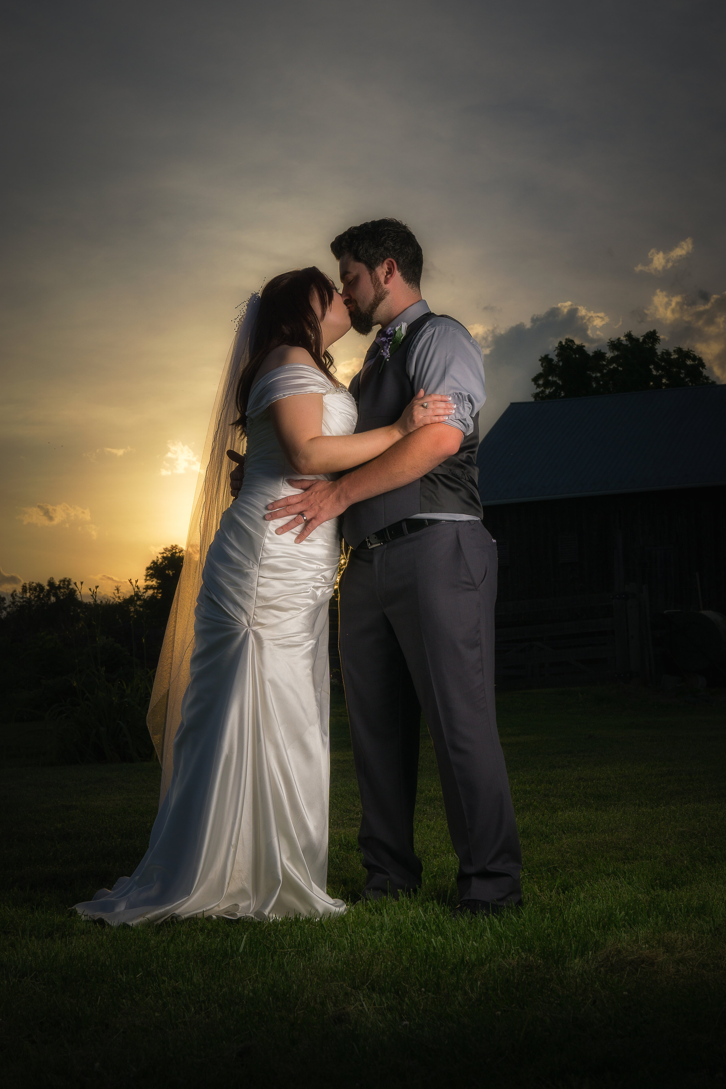 sunset wedding photo gettysburg pa
