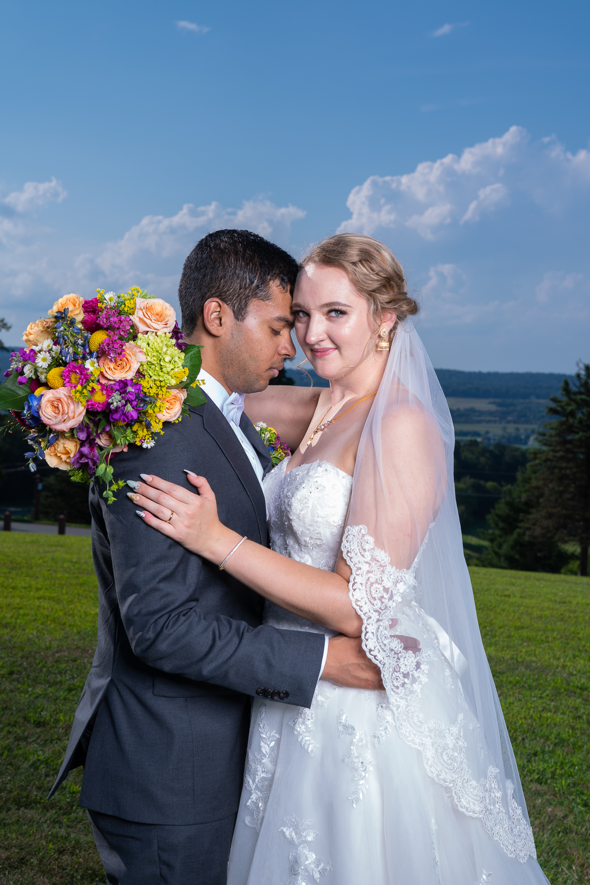A beautiful bride and stunning views at Sam Lewis State Park in York for their Wedding Photos.