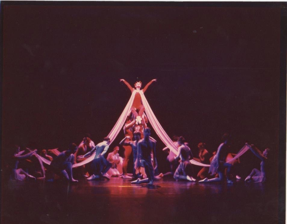 Zoura o'neill as queen fortuna from Carmina Burana at marin ballet, 1984