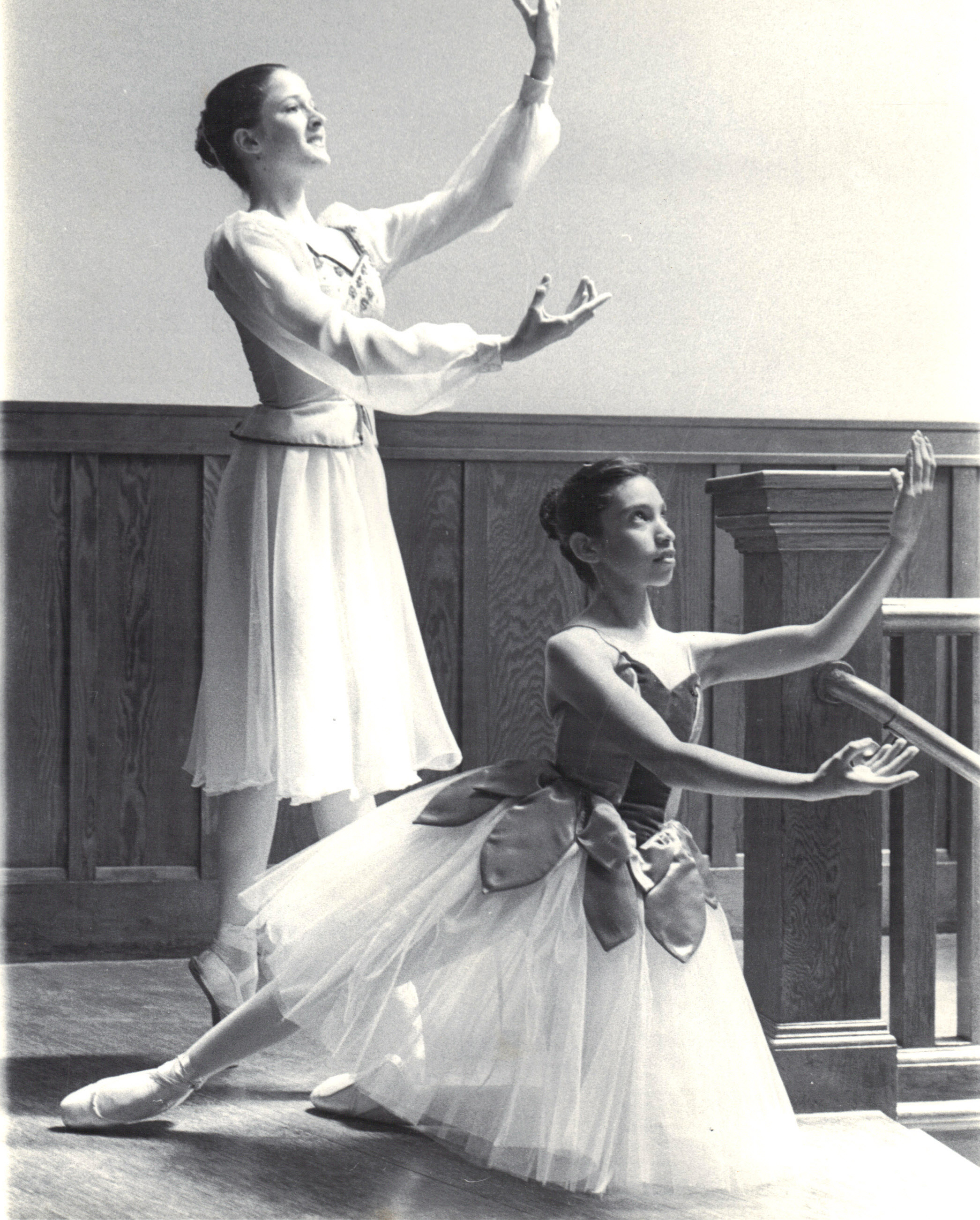 Zoura o'neill, Left, and lucia mclaughlin, 1979 or 1980