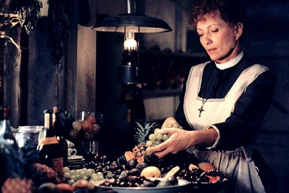 Capricorn:     Babette's Feast     (1987) directed by Gabriel Axel   Capricorn, as we've mentioned before, work is at the heart of your sign. You are tireless workers who gain a sense of place in the world through your career. You are also fiercely intelligent and detail-oriented, which makes for an even better employee. You will relate to many facets of the gorgeous Danish film,  Babette's Feast , a film that fits within one of my favorite cinematic canons: 80's Baroque-inspired films, like  Amadeus ,  The Draughtsman's Contract , and  Dangerous Liaisons . However, where those films are abundant, corporal, and borderline gauche,  Babette's Feast  uses similar imagery while adopting a more understated and intimate tone. The film takes place on a small island village off the coast of Denmark, inhabited by devout Protestants, two of which are sisters, Martine (Birgitte Federspiel) and Philippa (Bodil Kjer). These sisters provide the community with a sense of luminosity, vivacity, and beauty. They are both pursued by enchanting suitors, but their strict father forbids them to marry. Decades later, the sisters still live on the island after the death of their father and employ an enigmatic French woman, Babette (Stephane Audran), as their housekeeper. While trepidatious of an outsider at first, the community on the island soon comes to admire Babette's spirit, and the townspeople slowly relinquish their judgments and conditioning that one must always be working and remain stoic to the point of suppressing emotions. The film culminates in a grand French feast, prepared by Babette after coming into some funds. Here, the pious townspeople must choose between indulgence and emotion and stoic self-deprivation. Capricorn, I encourage you to watch this film and decide for yourself if you are withholding yourself from pleasures and emotions in favor of bottling everything up and keeping your head down. It is within the balance of pain and pleasure, work and play, that we truly live and thrive.