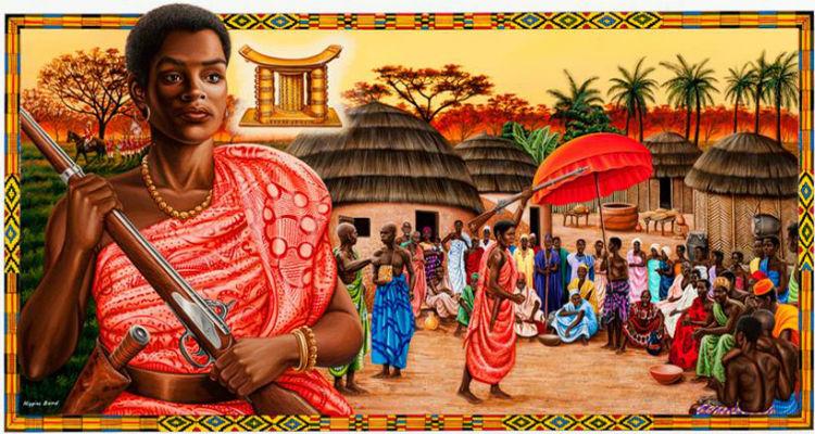 Artist's depiction of Queen-Mother Yaa Asantewaa
