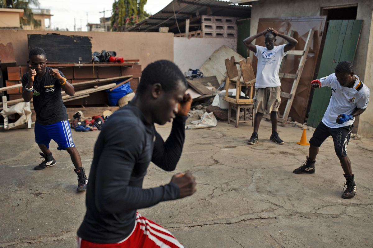 Young boxers honing their craft in Bukom