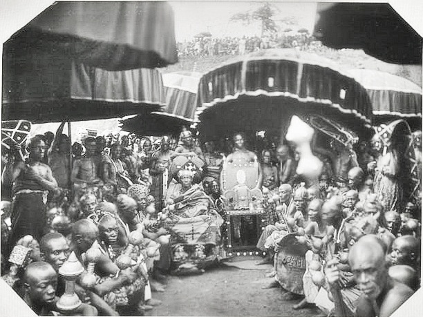 The Ashanti Royal Court upon the return of the Golden Stool and self rule in 1935.