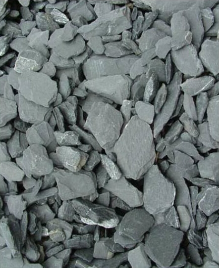 GRAY CRUSHED ROCK ROOF BALLAST