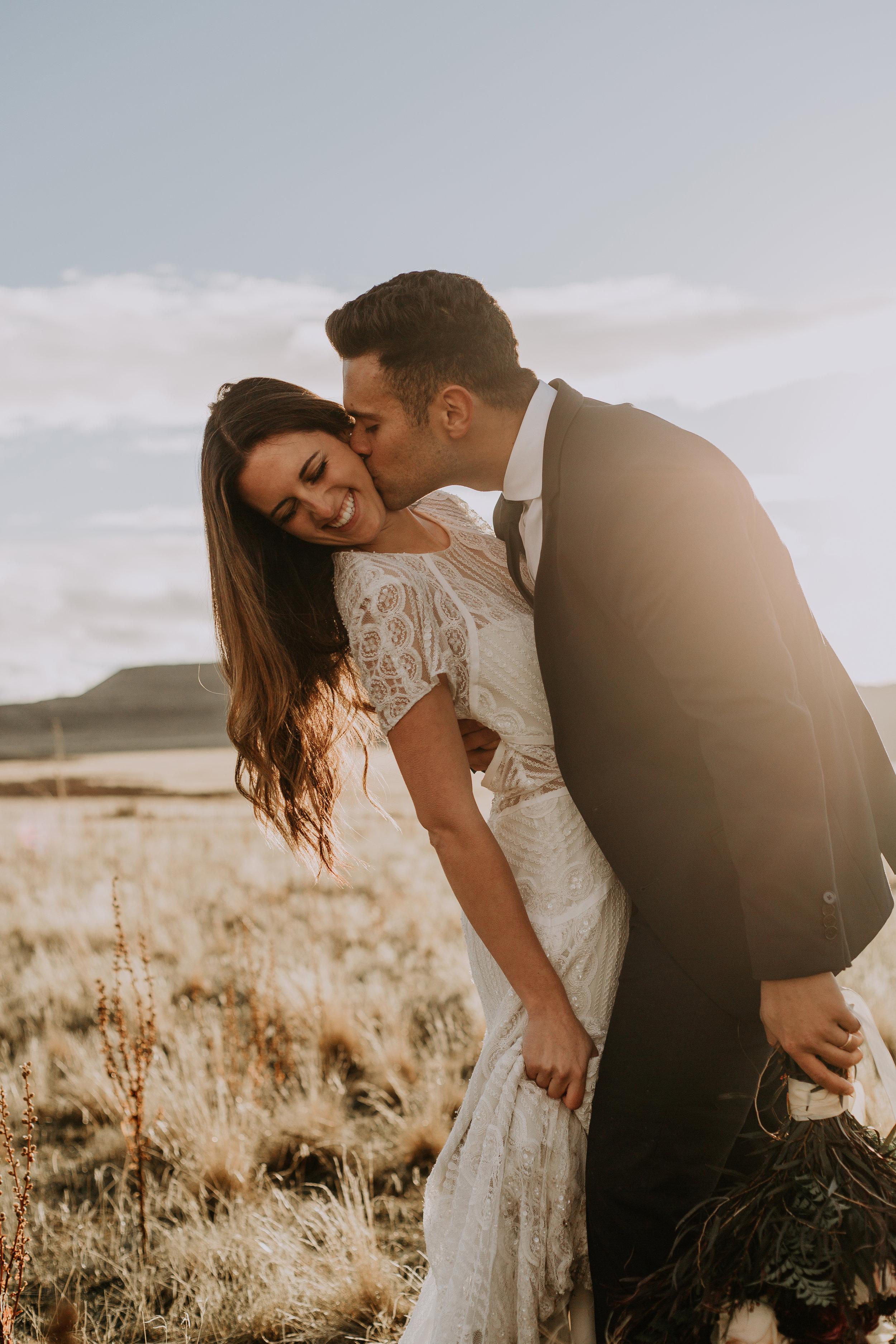 Adventurous Bridal Session at Antelope Island | Utah Elopement Photographer