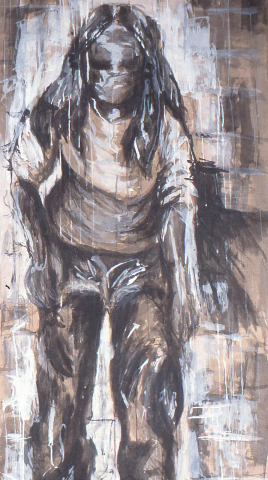 """Standing Portrait"" (ink wash on butcher paper) (2002)"