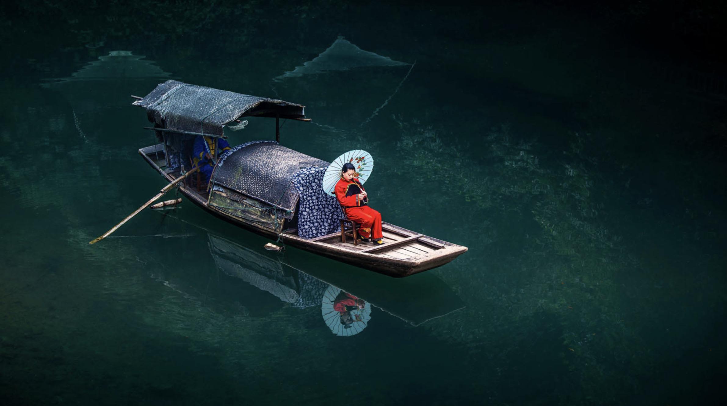 SCB. Boy Rowing his Girl.