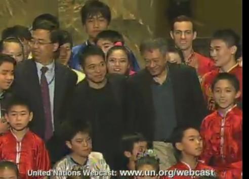 Jet Li, Ang Li, Chinese Ambassador to the UN and Lucas Geller (Top Right)
