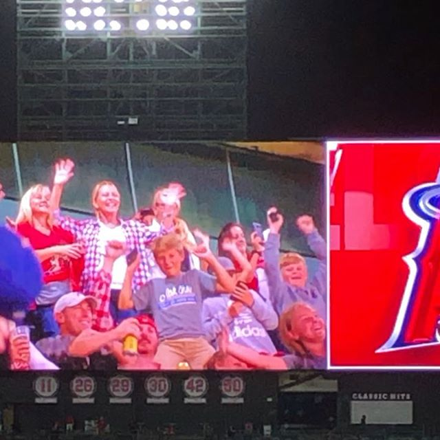 Thank you @angels for a great night of baseball, friends, and singing! #ShowCase