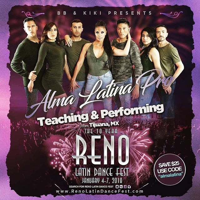 Getting ready for Reno !!! The entire ARMY LATINA is coming to @renolatindancefest !!! You can't miss this festival , it's simply incredible.  #RenoMode #armylatina  #almalatinaexito  #renolatindancefest