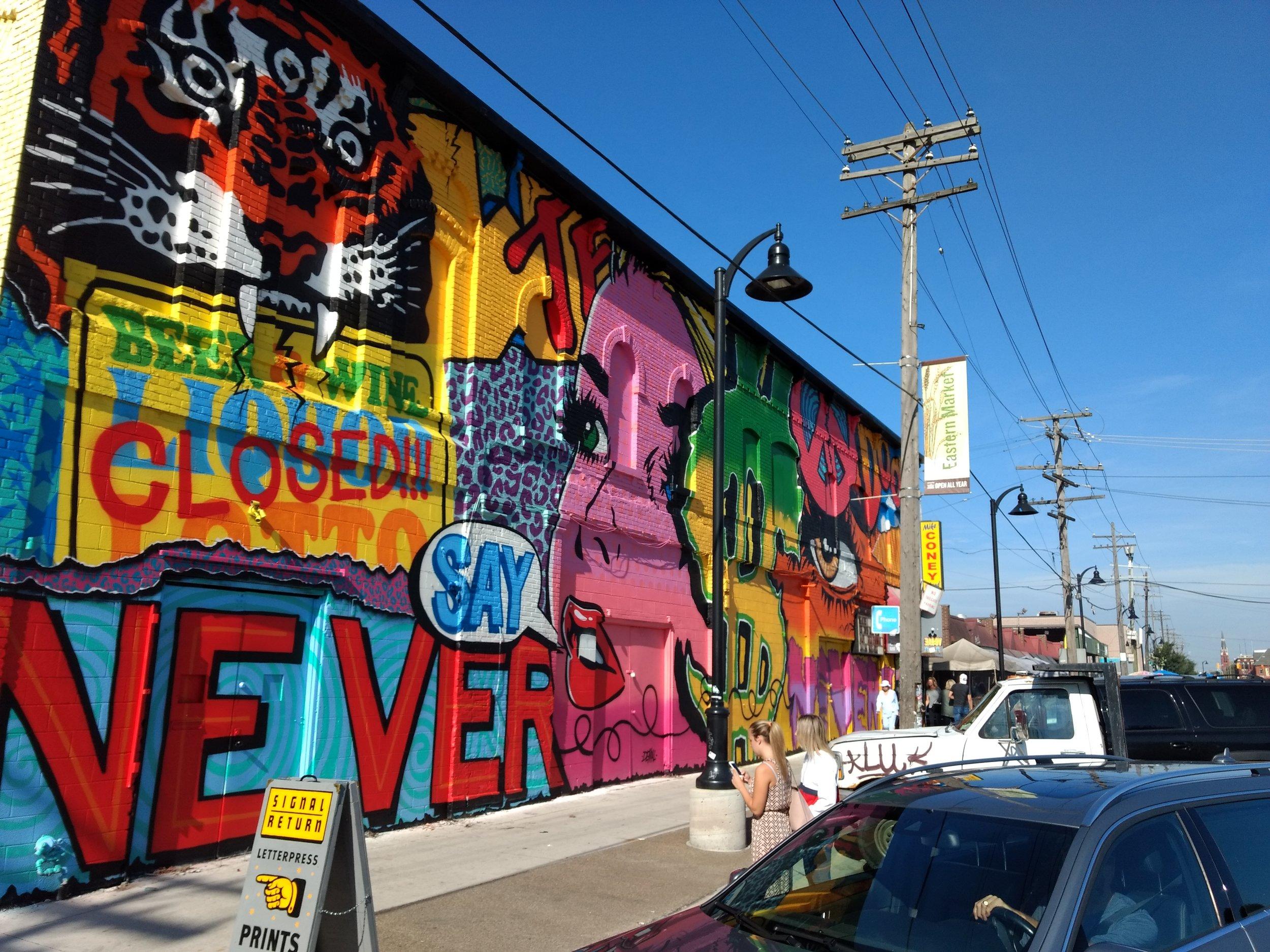 Arte urbano en cada esquina de Detroit