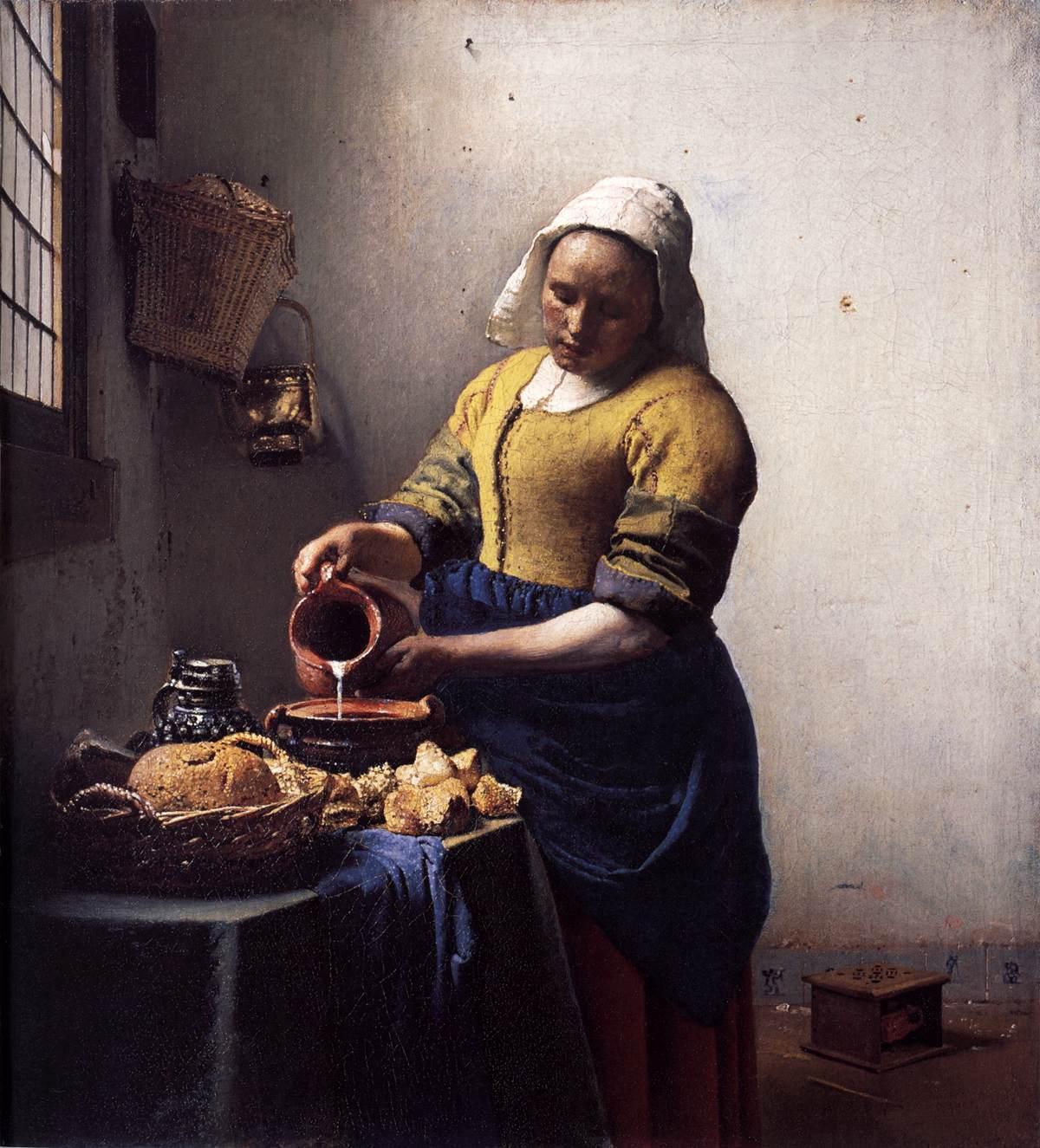 """Johannes Vermeer, """" La Lechera"""" ( 1658-1660)."""