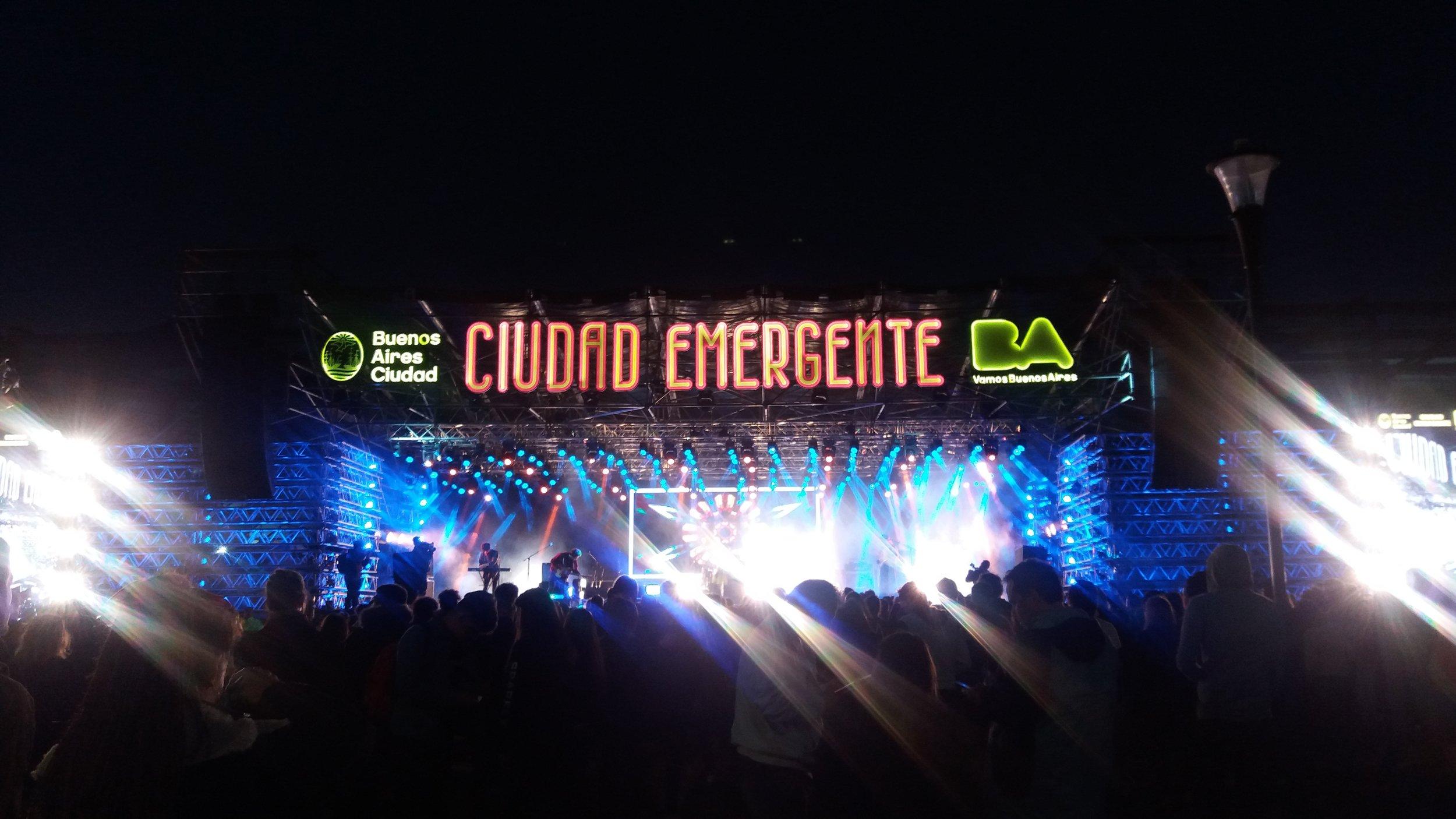 Festival Ciudad Emergente en Buenos Aires. Foto por  Jéssica M.