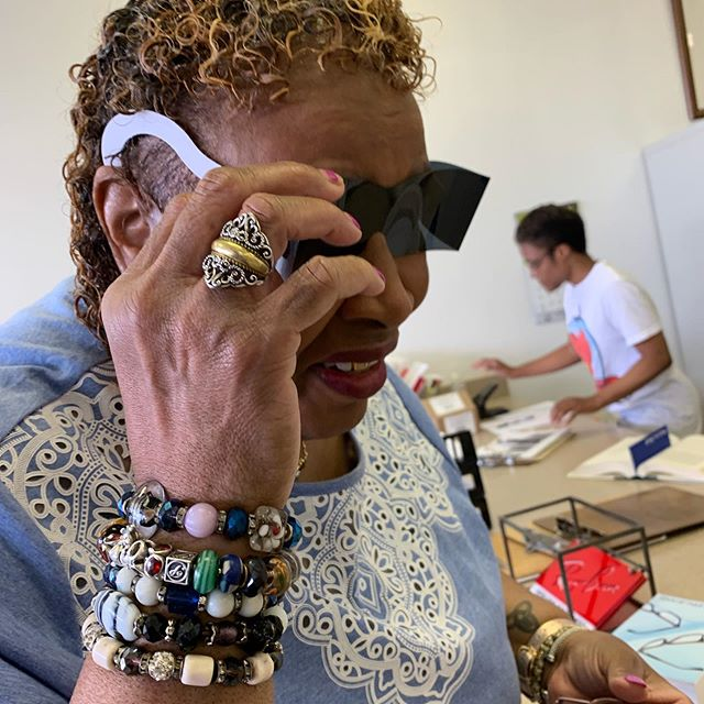 When your Mom is super cute and chill during her eye doctor appointment and you gonna snap the experience even though she hates it. 😈 - #mybmore #pandorajewelry #pandoracharms #jerrycurl #jerrycurls #pandorabracelet