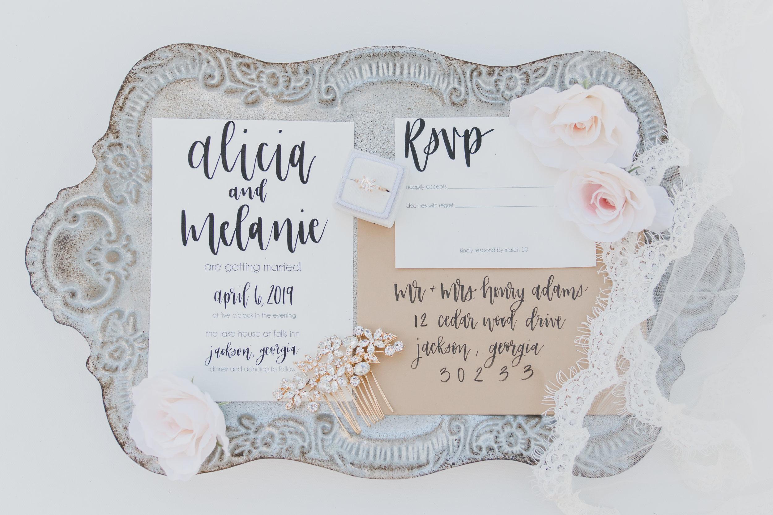 Venue:  @thelakehousehighfalls ⠀ Wedding Planner:  @jessicajevents ⠀ Photographer:  @leatherwoodportraits ⠀ Calligrapher:  @ecletters  ⠀ Flowers:  @funkymountainflowers ⠀ HMUA:  @bonniejeanbeauty ⠀ Rentals:  @atantapartyrentals ⠀ Models: @thesydneyporter  @florprodigiosa