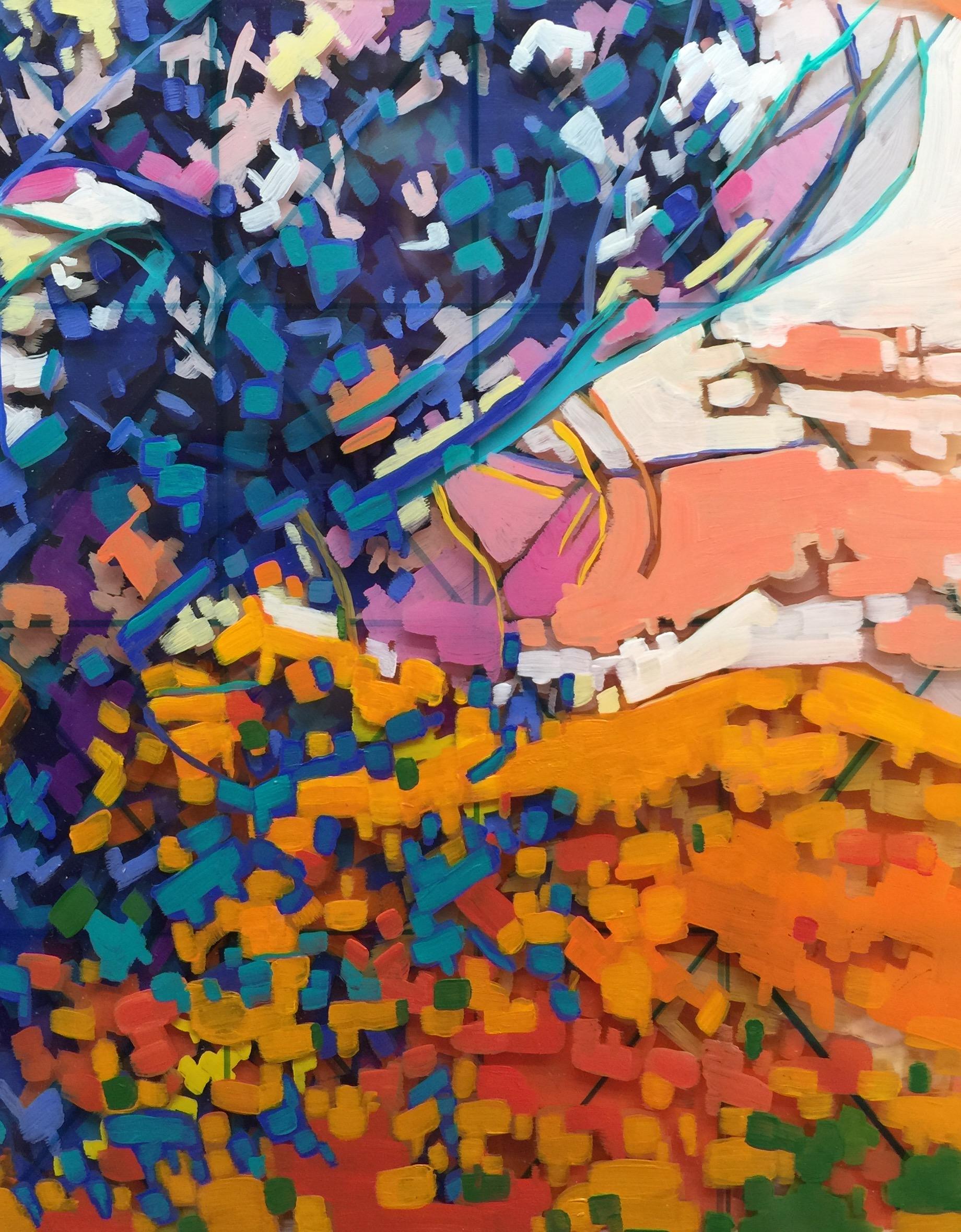 """Sunrise"", 8"" x 8"" Acrylic on Multi-Layered Acrylic Glass"