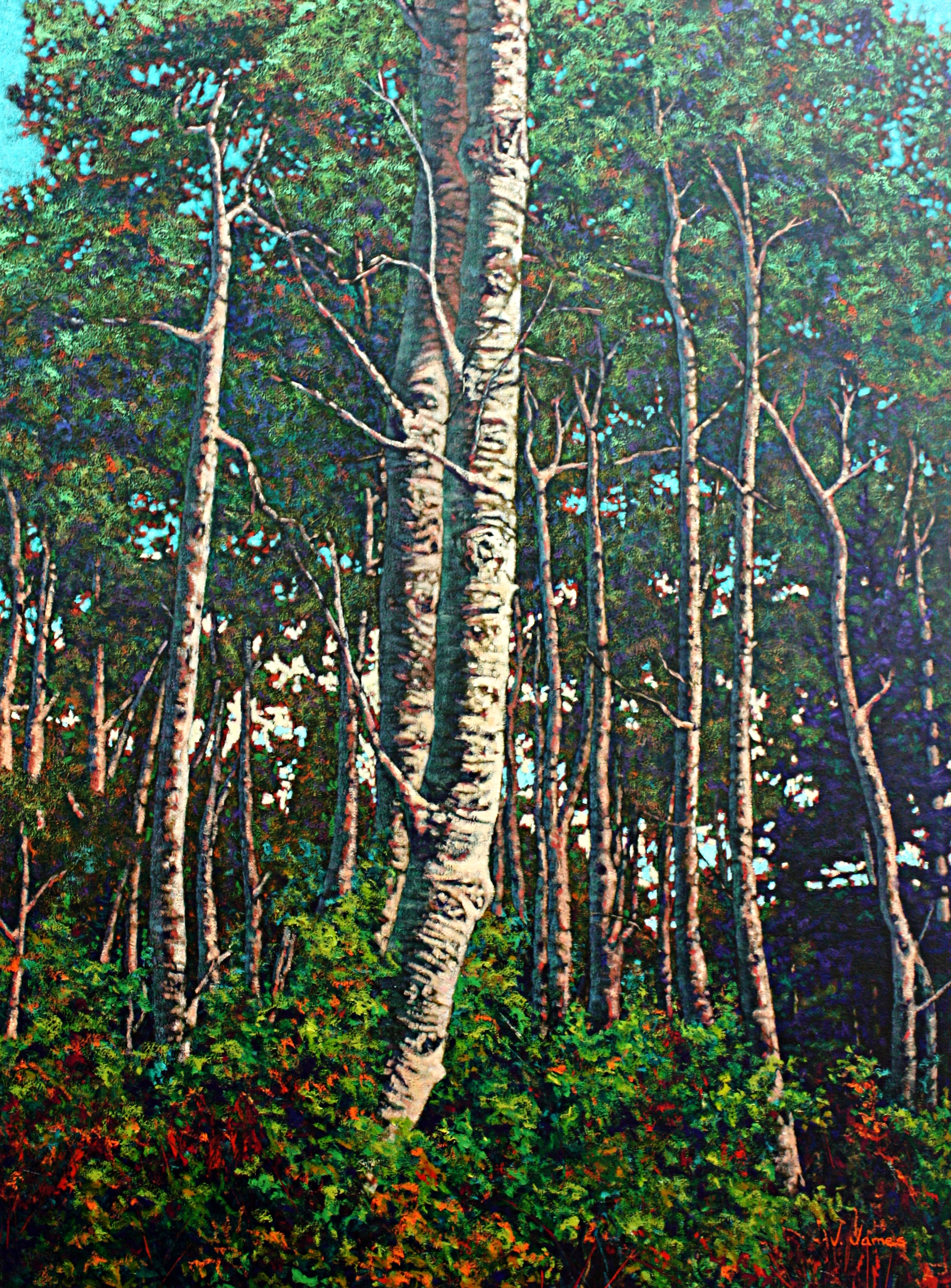 """Nesters, 48"""" x 36"""" Oil on Canvas"""