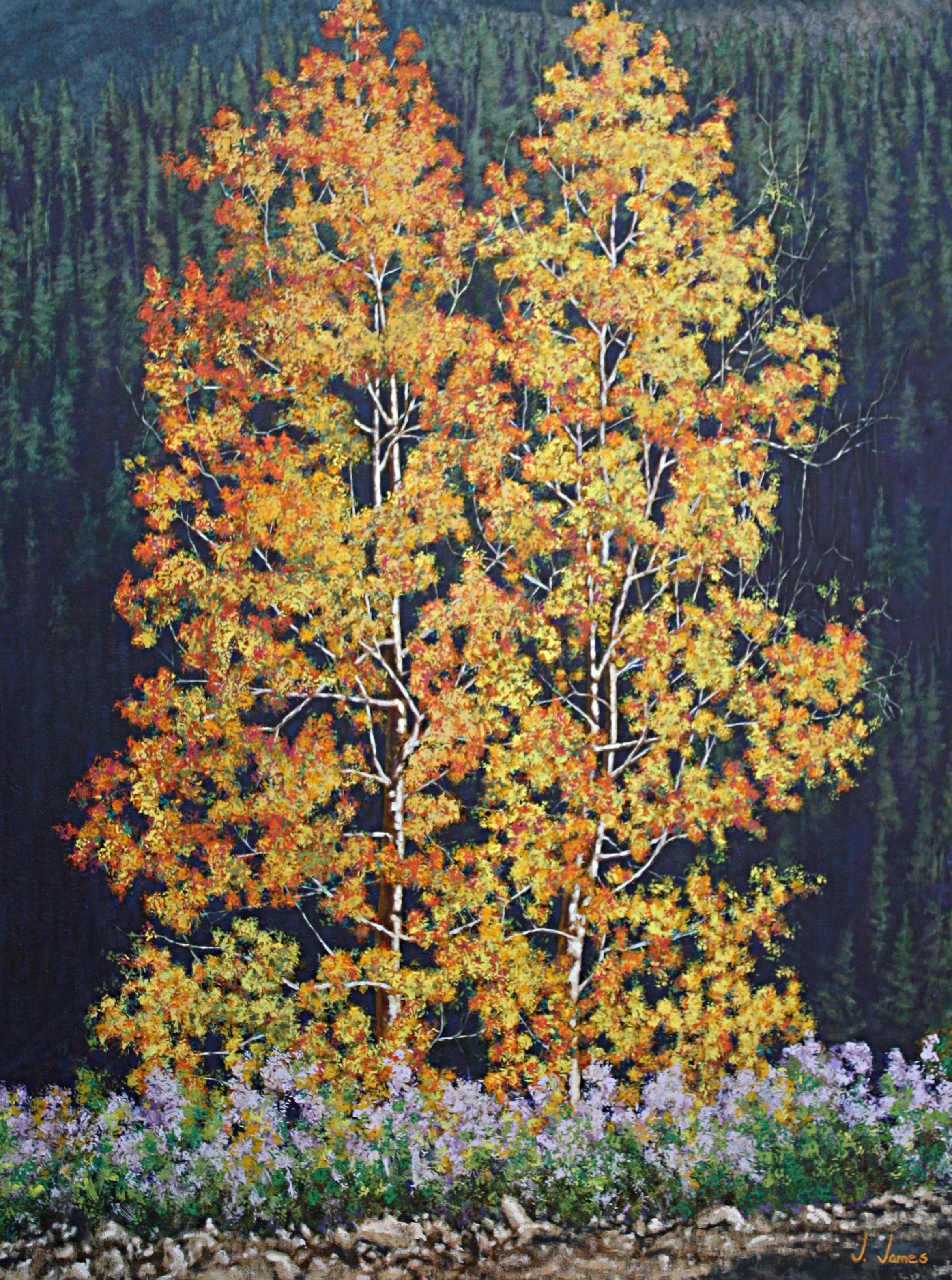 "Yin Yang, 48"" x 36"" Oil on Canvas"