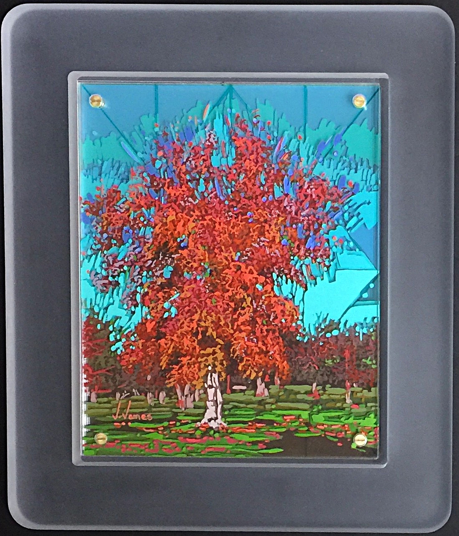 "In All Her Glory, 10"" x 8"" Acrylic on Multi-Layered Acrylic Glass"
