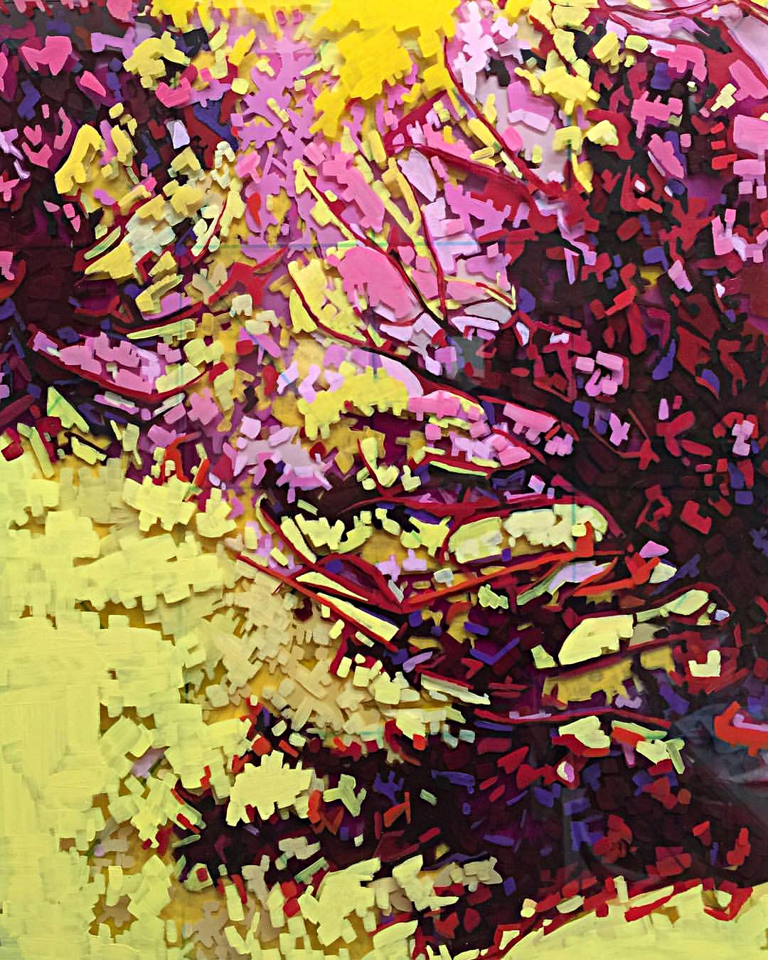 "Joy Of The Day, 20"" x 16"" Acrylic on Multi-Layered Acrylic Glass"