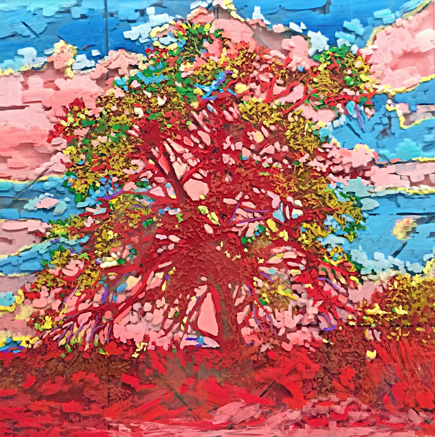 "Heart & Soul, 16"" x 16"" Acrylic on Multi-Layered Acrylic Glass"